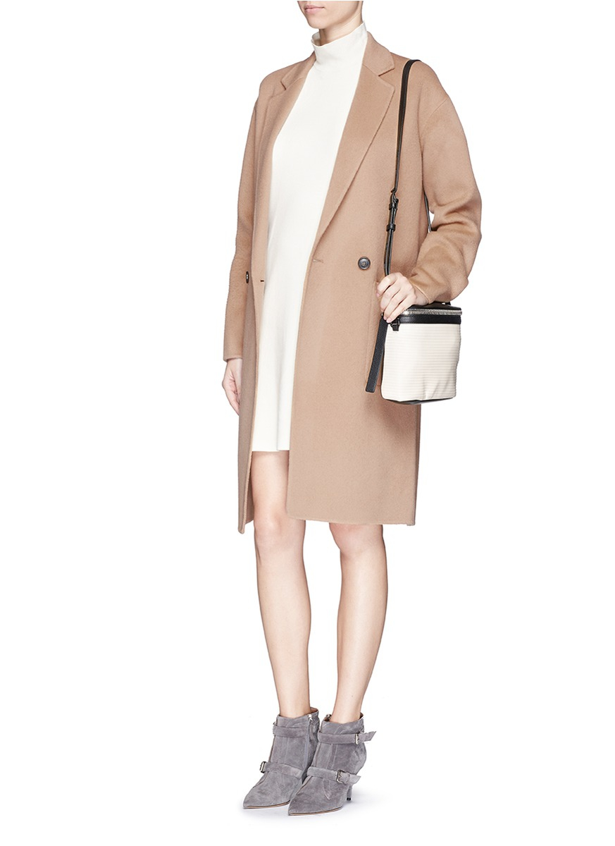 Theory 'eletkah Df' Wool-cashmere Coat in Brown | Lyst