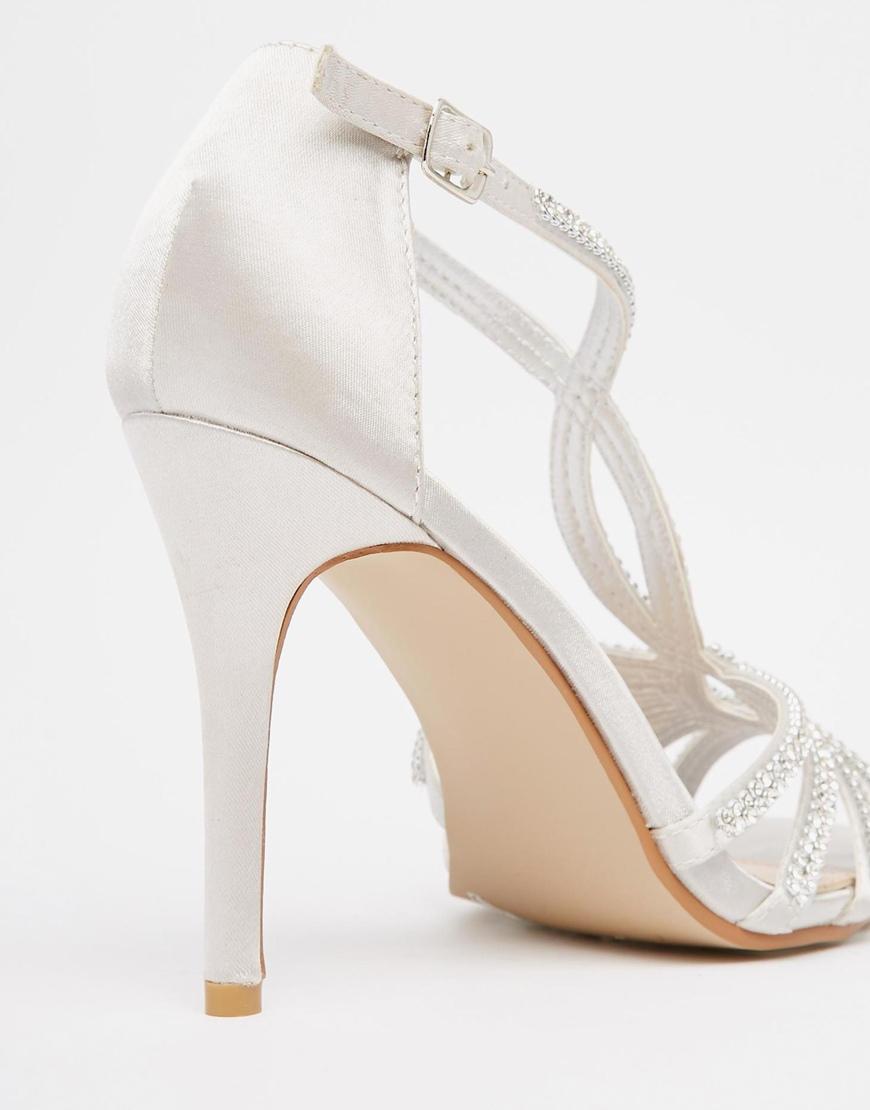 cedf96f2e991ce Lyst - Miss Kg Pepper Diamante Heeled Sandals in Metallic