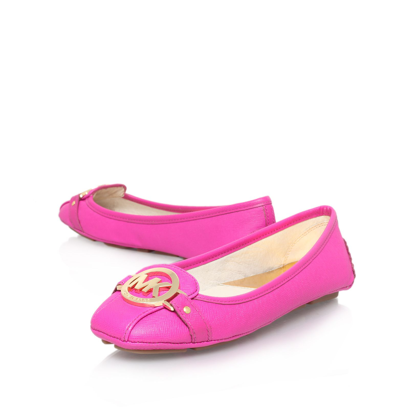 michael kors fulton moc ballerina shoes in pink lyst