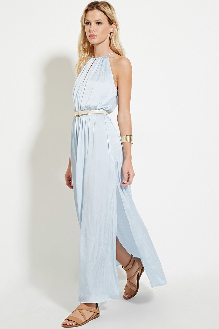666c700cde4 Lyst Forever 21 Satin High Maxi Dress You Ve Been Added To