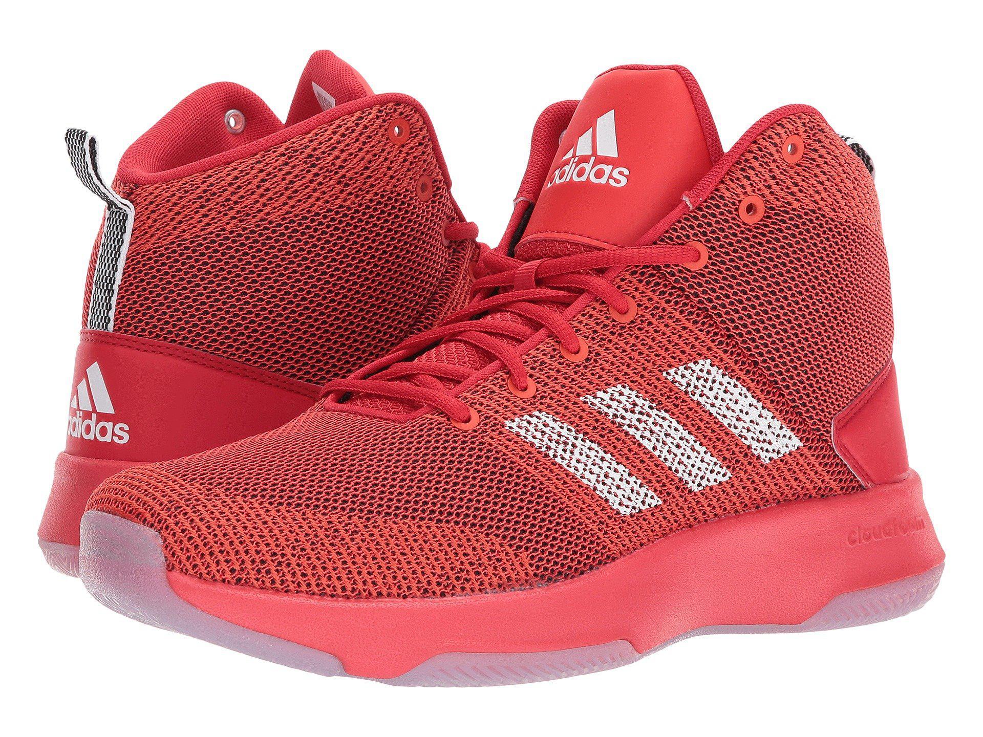 lyst adidas cloudfoam esecutore metà in rosso per gli uomini.
