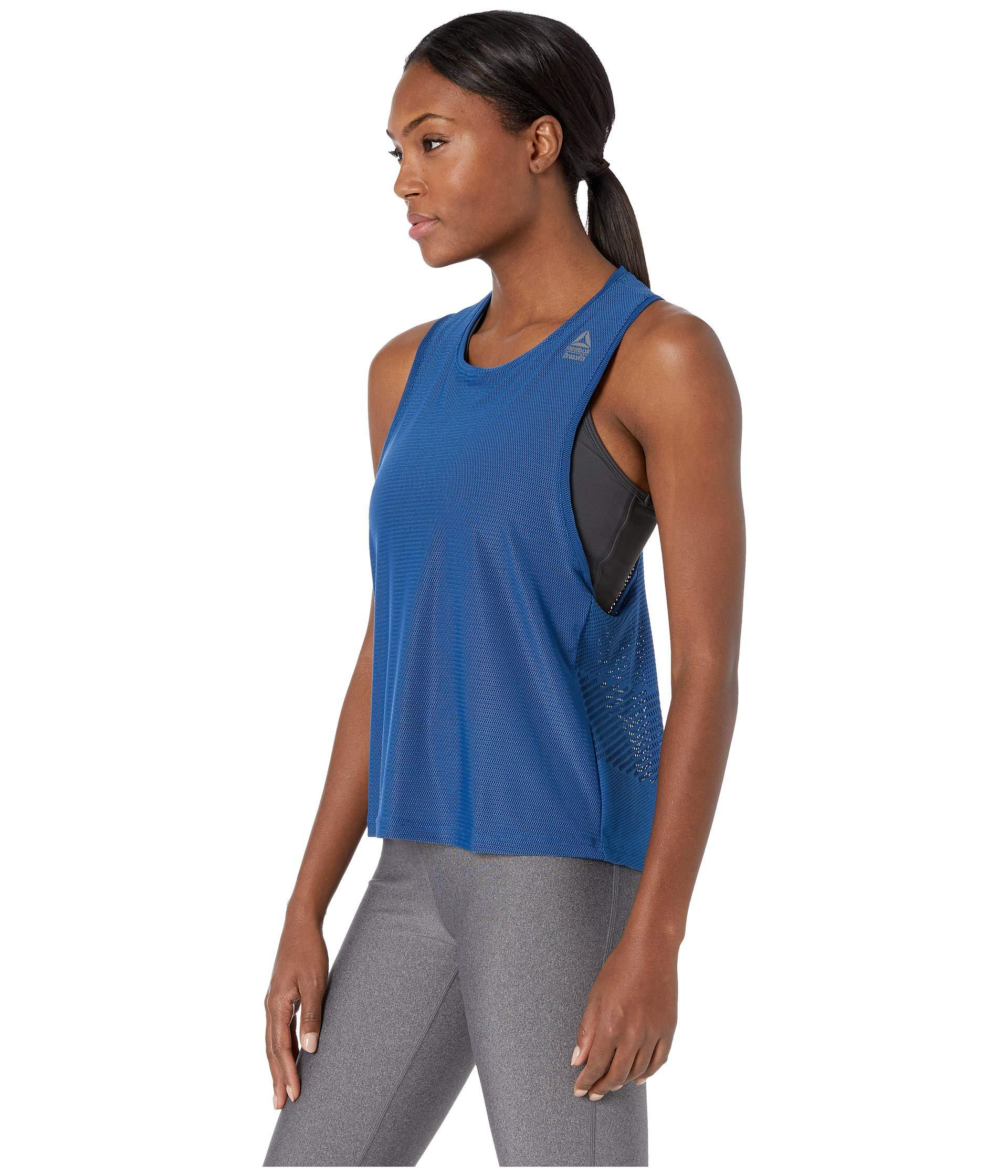 d0a5622dcf Lyst - Reebok Crossfit Jacquard Tank Top in Blue - Save 28%