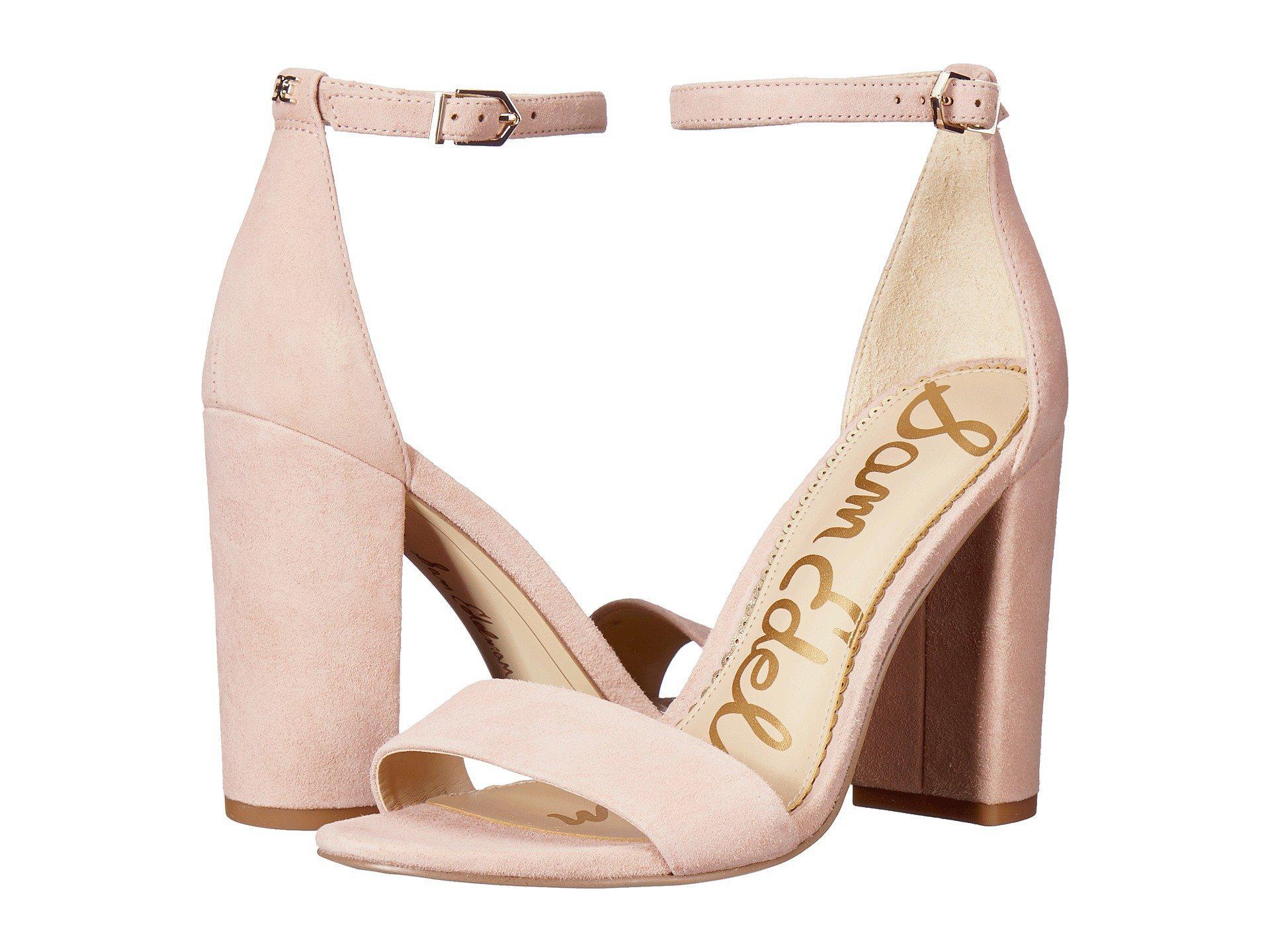 1e11eaf51de Lyst - Sam Edelman Yaro Ankle Strap Sandal Heel in Pink - Save 43%
