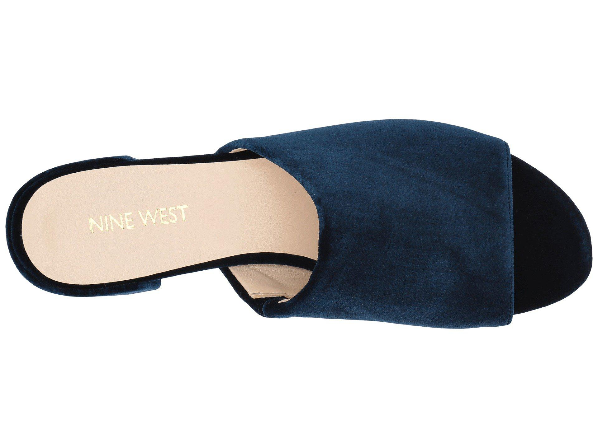 ad77c19c840b Nine West - Blue Raissa Slide Sandal - Lyst. View fullscreen