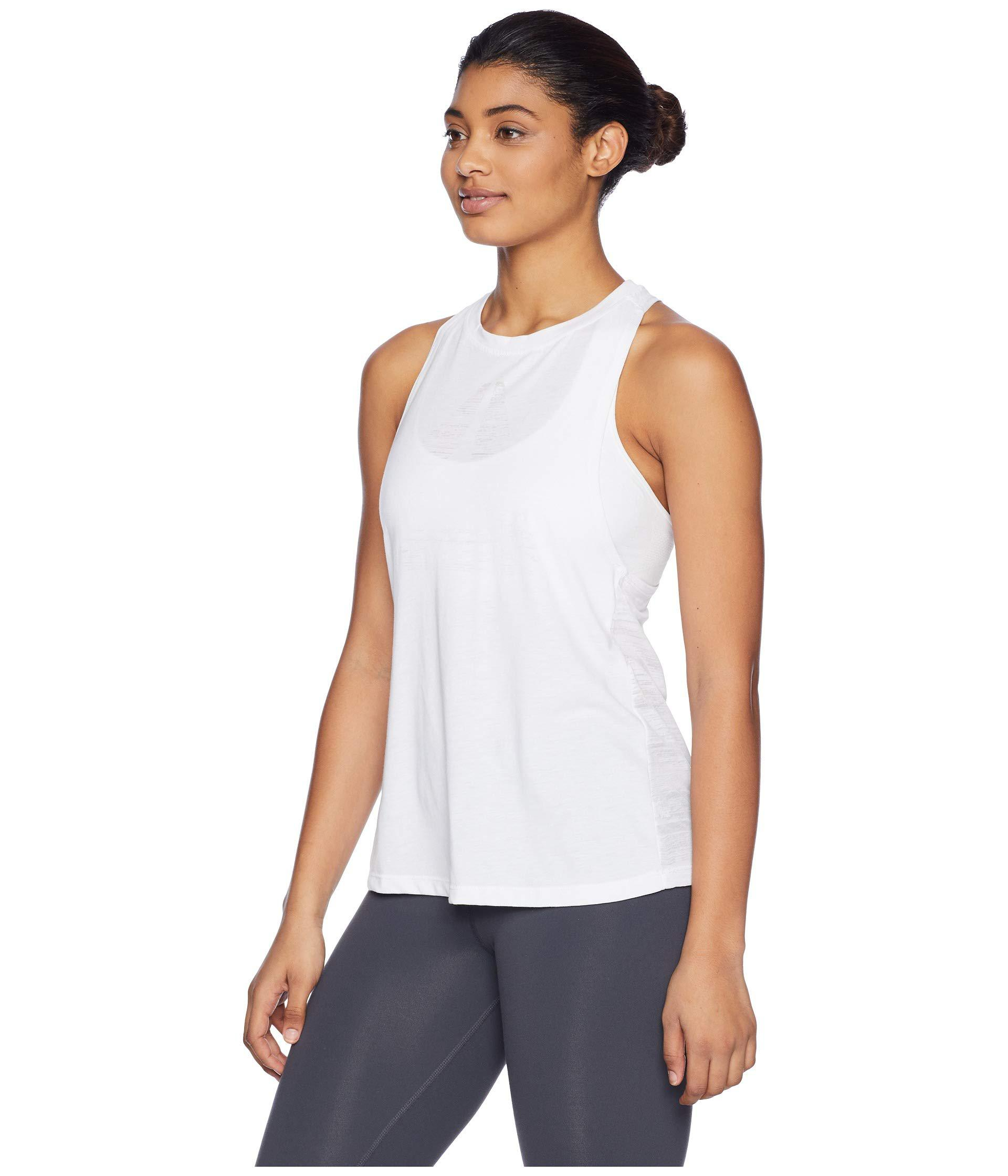 a3d724d742cb10 Lyst - Reebok Burnout Tank Top in White