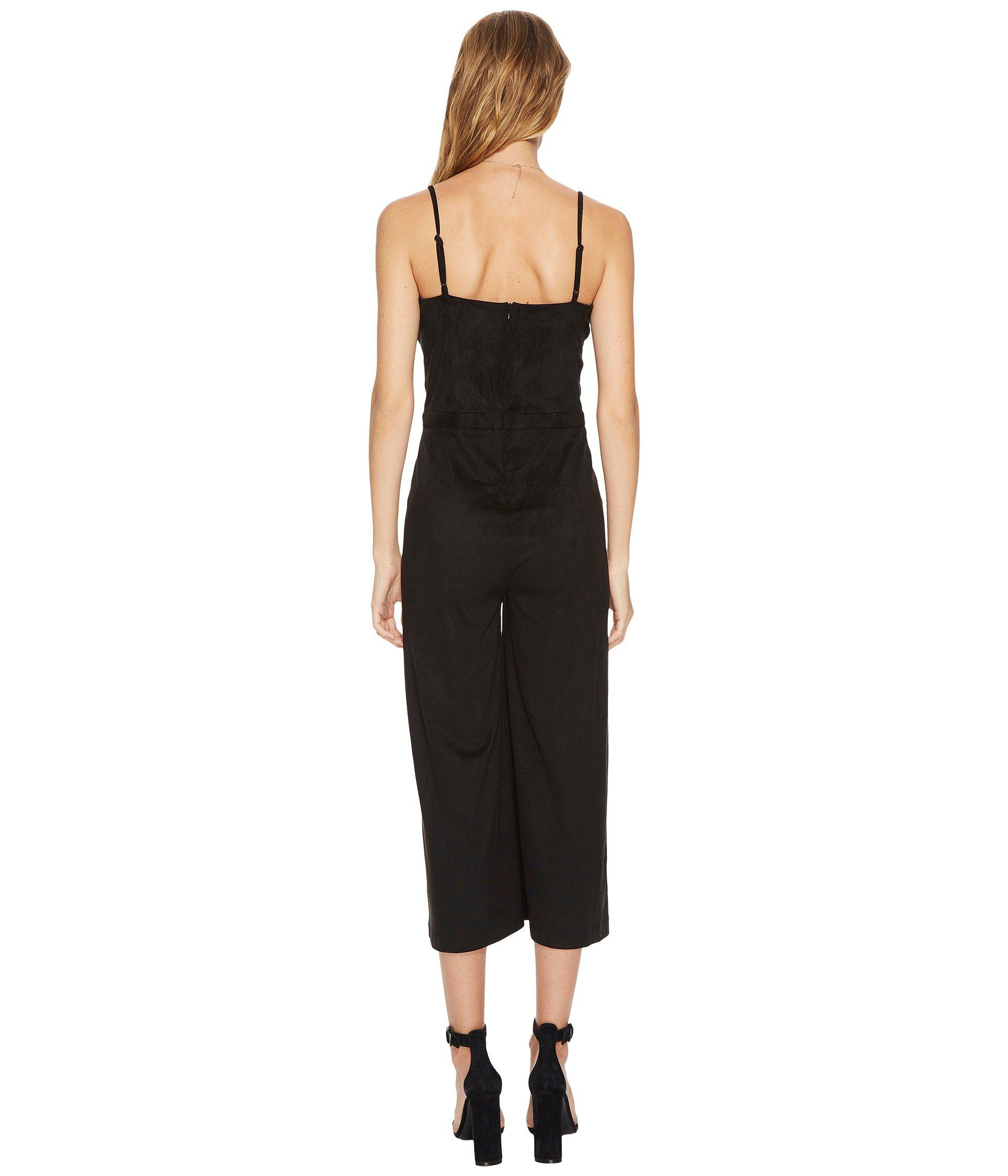 d6cd043b3a0 Jack BB Dakota - Black Darcy Faux Suede Midi Jumpsuit - Lyst. View  fullscreen
