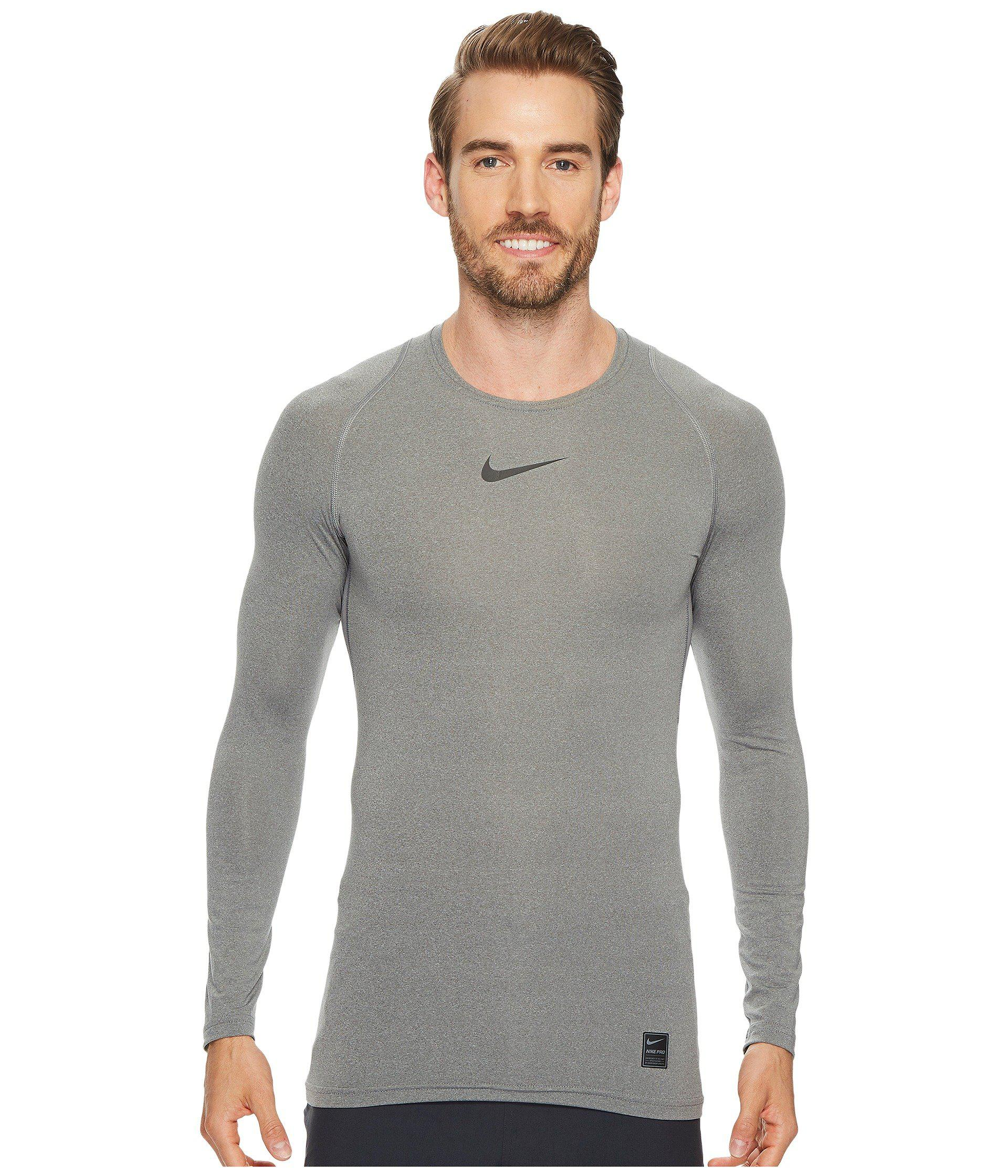 bf63a5fab925f Lyst - Nike Pro Compression Long Sleeve Training Top in Gray for Men ...