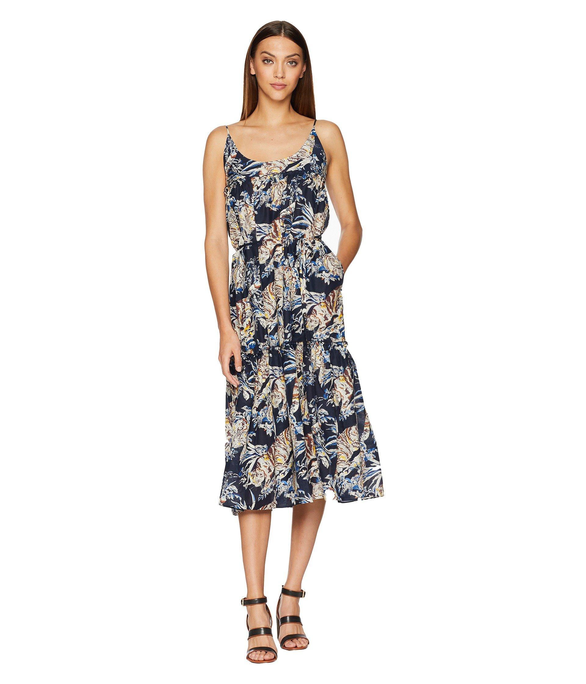 374bcaaefac38 Lyst - Stella McCartney Jungle Print Maxi Dress in Blue
