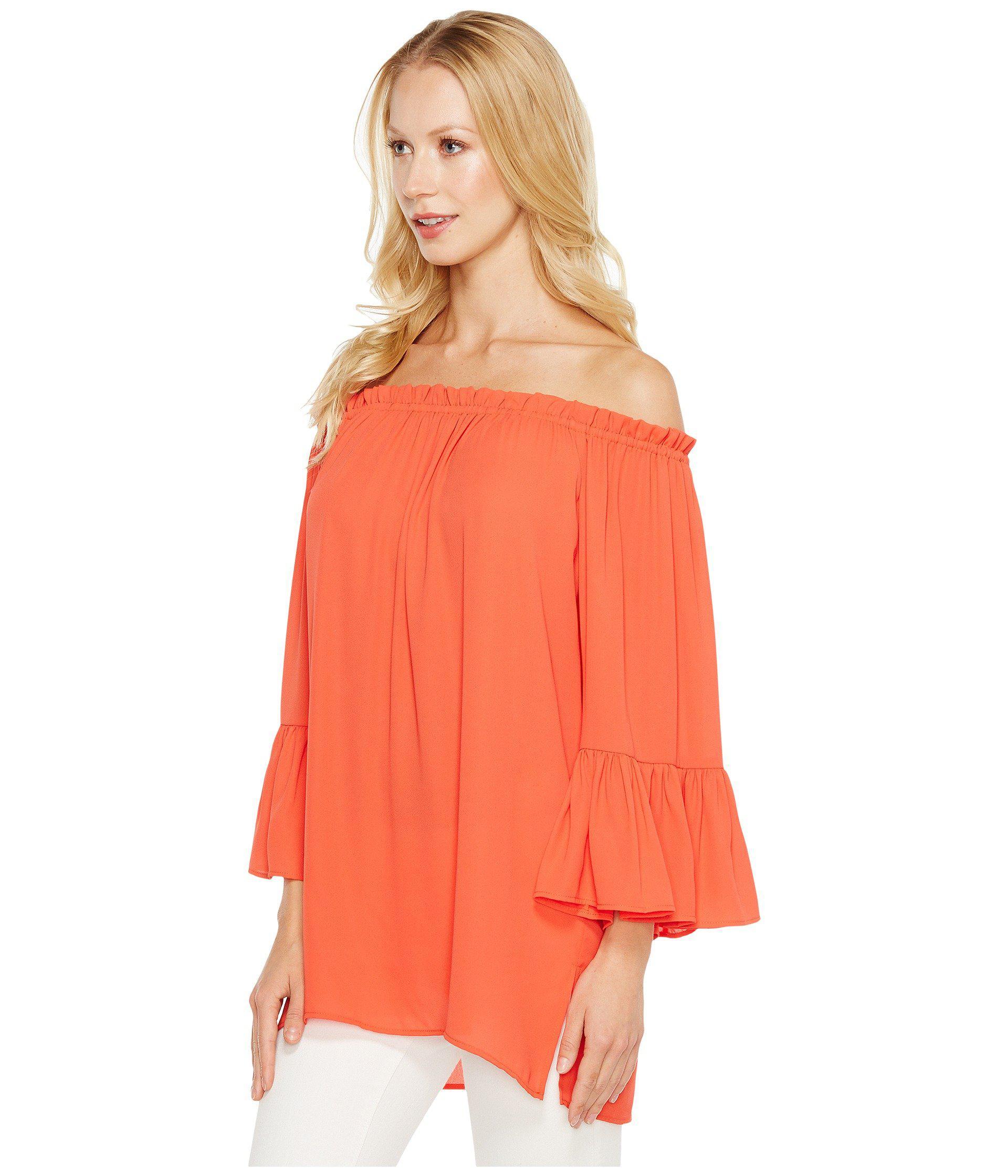 160b424d665b Lyst - Karen Kane Convertible Off The Shoulder Top in Orange - Save 44%
