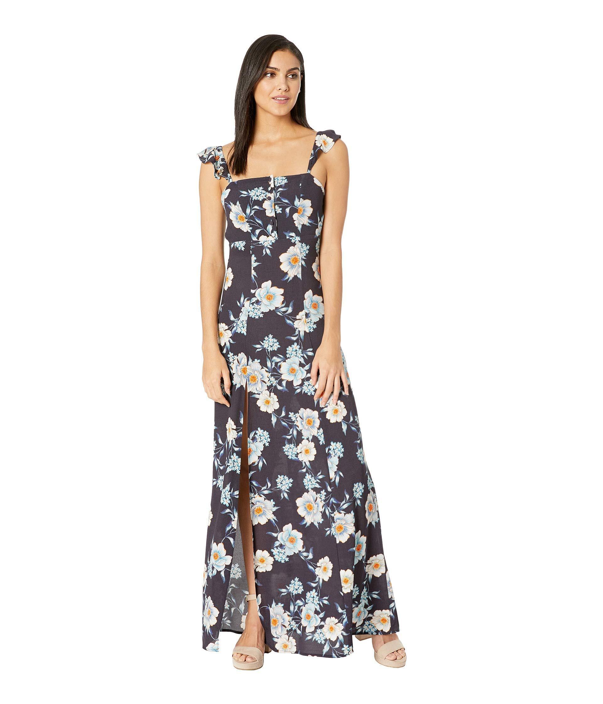 09bb63d2432 Lyst - Flynn Skye Bardot Maxi Dress in Blue
