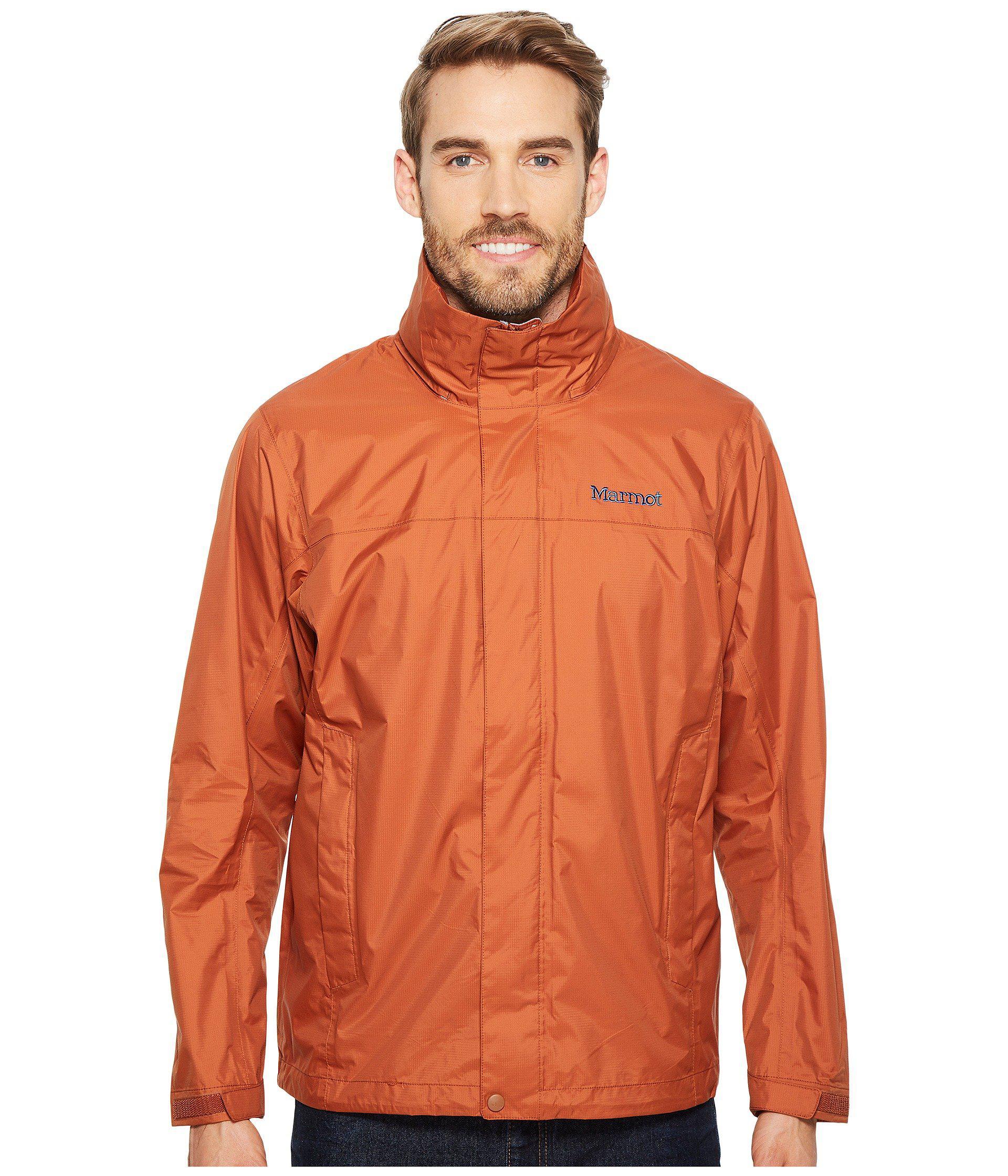Marmot Precip Jacket In Orange For Men