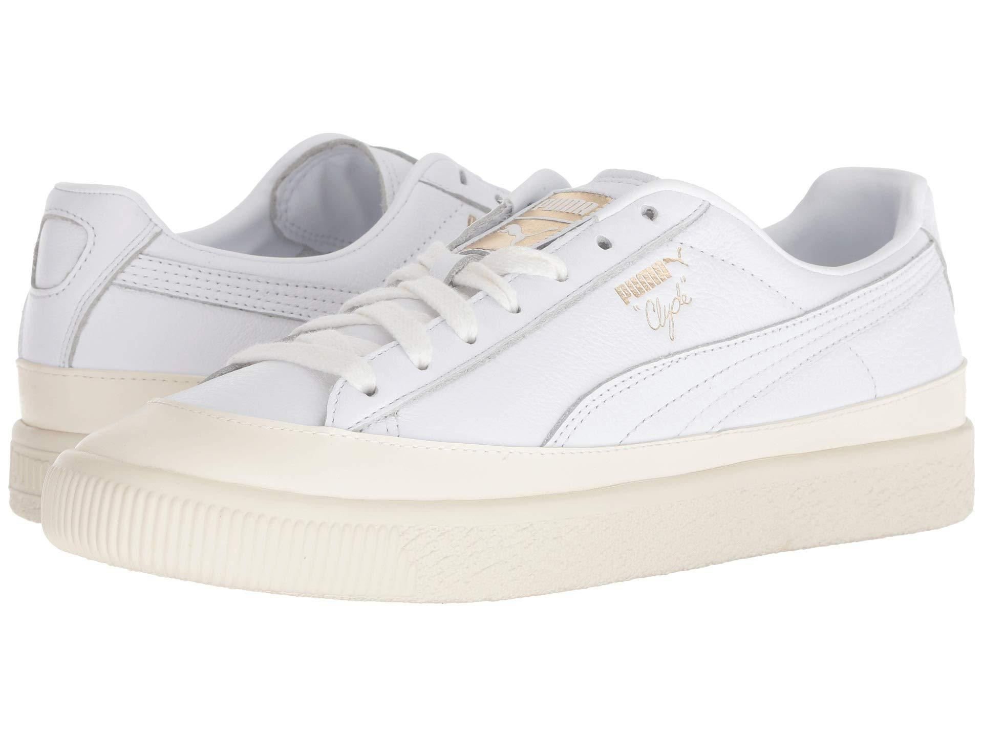 16988c3b8d9 Lyst - PUMA Clyde Rubber Toe Leather in White for Men - Save 13%