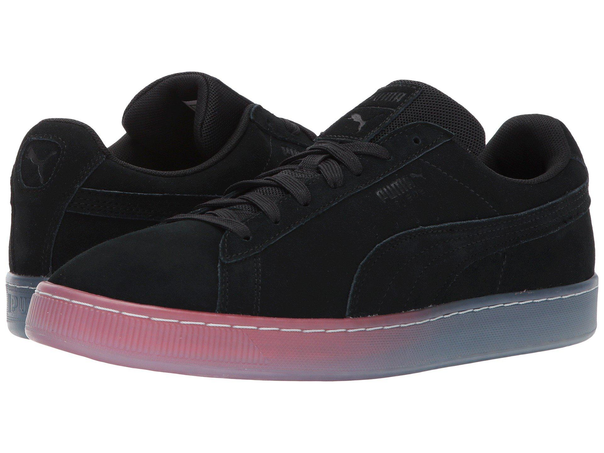 PUMA Mens Black Suede Classic Dusk To Dawn
