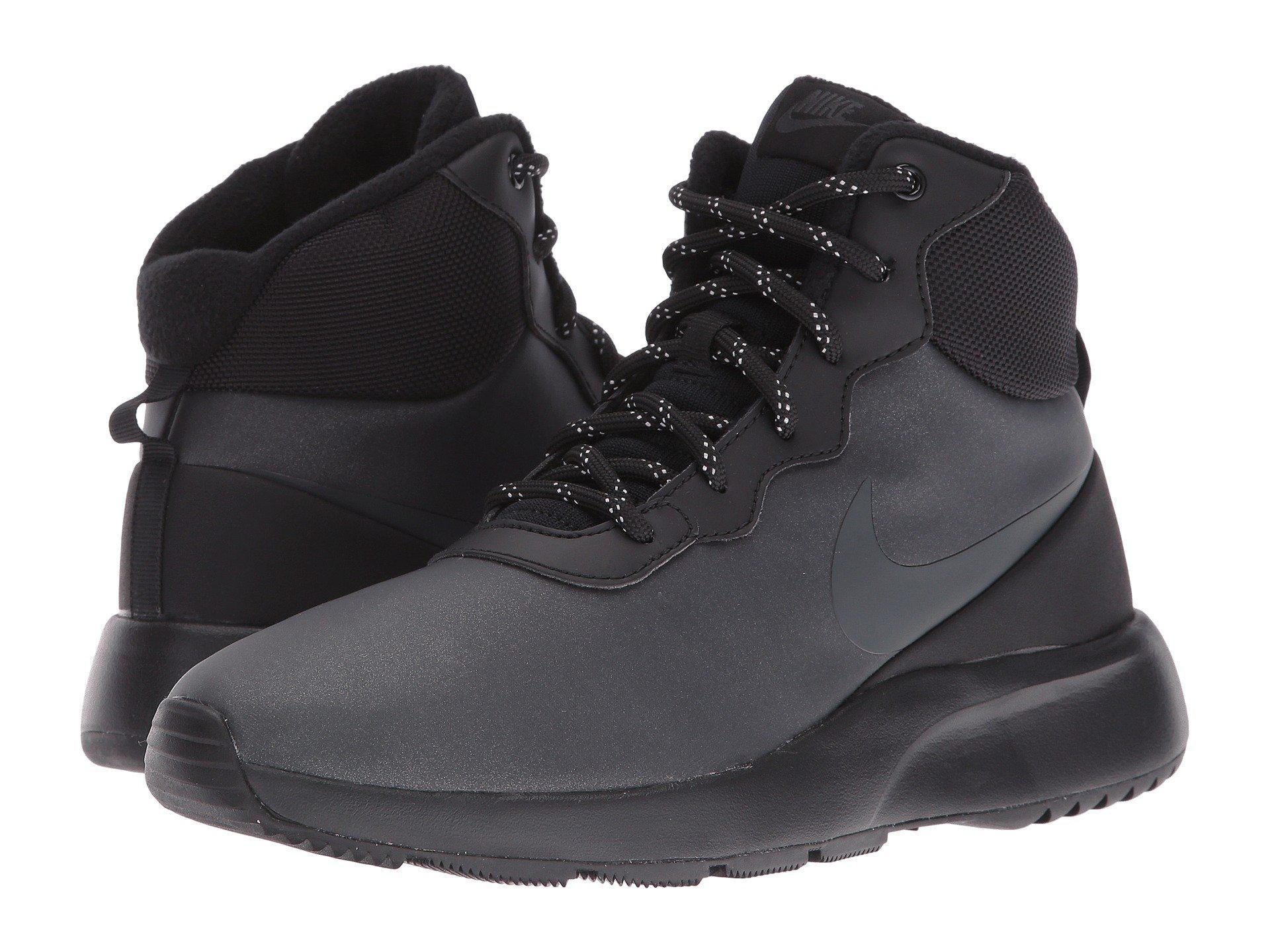 4f15adba Nike Tanjun High Winter in Black - Lyst