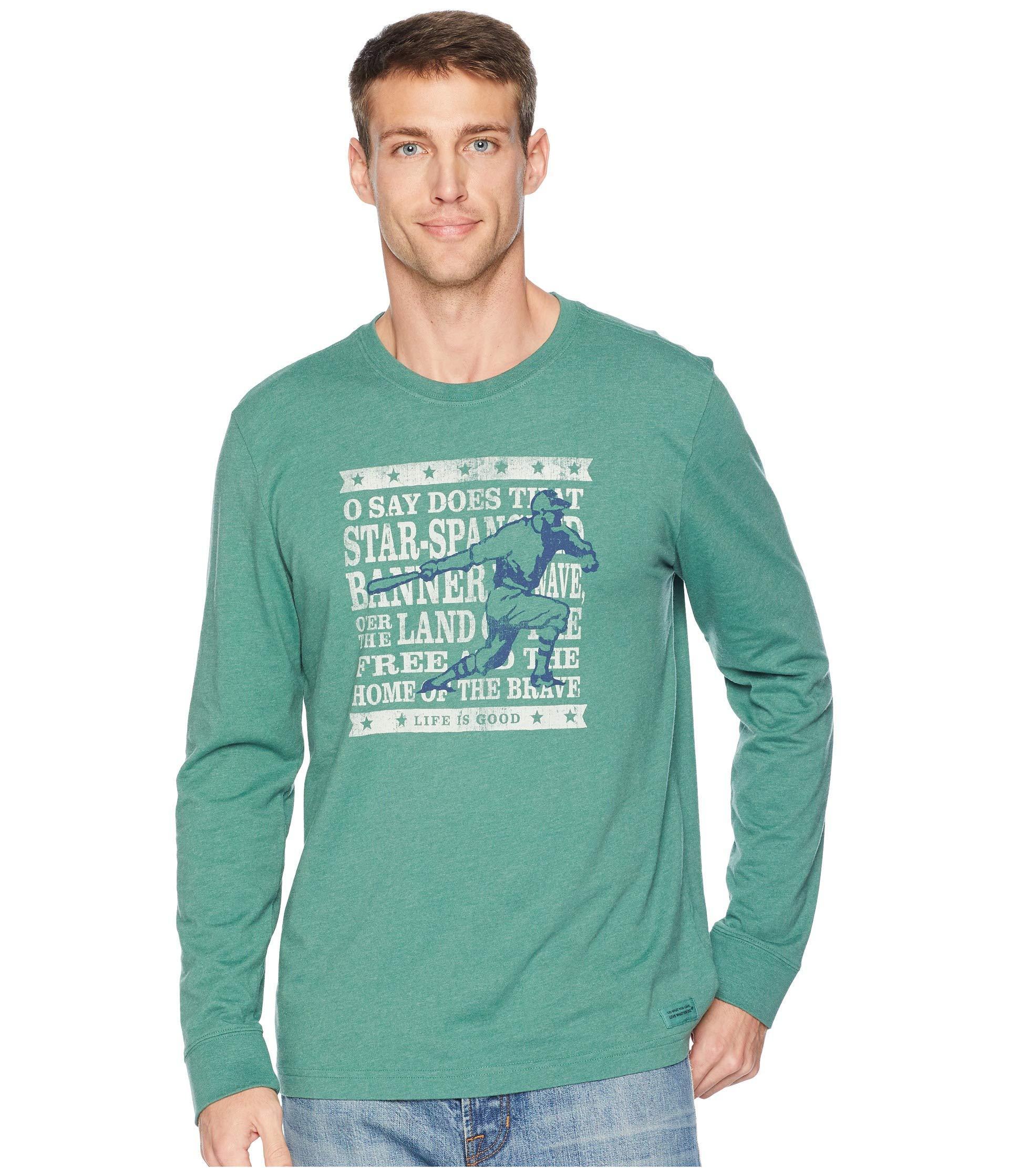 75e7fccc4c1 Lyst - Life Is Good. Brave Baseball Crusher Long Sleeve T-shirt in ...