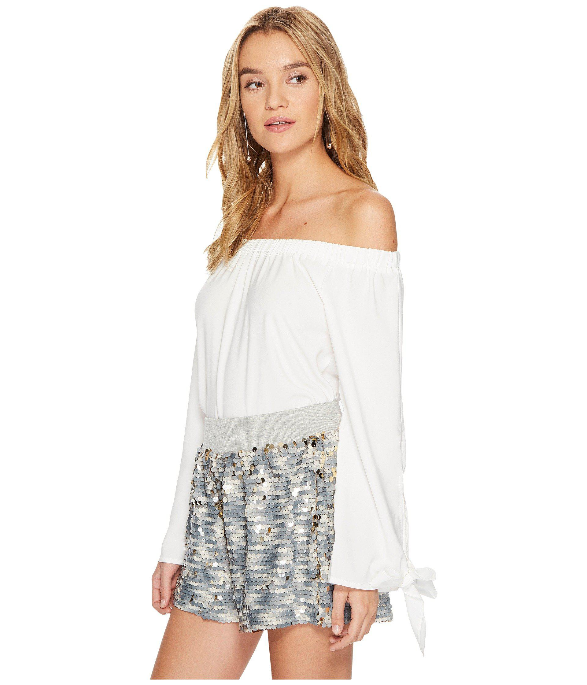 aae7e8b390cd7 Lyst - Bishop + Young Avery Off Shoulder Top in White - Save  56.45161290322581%