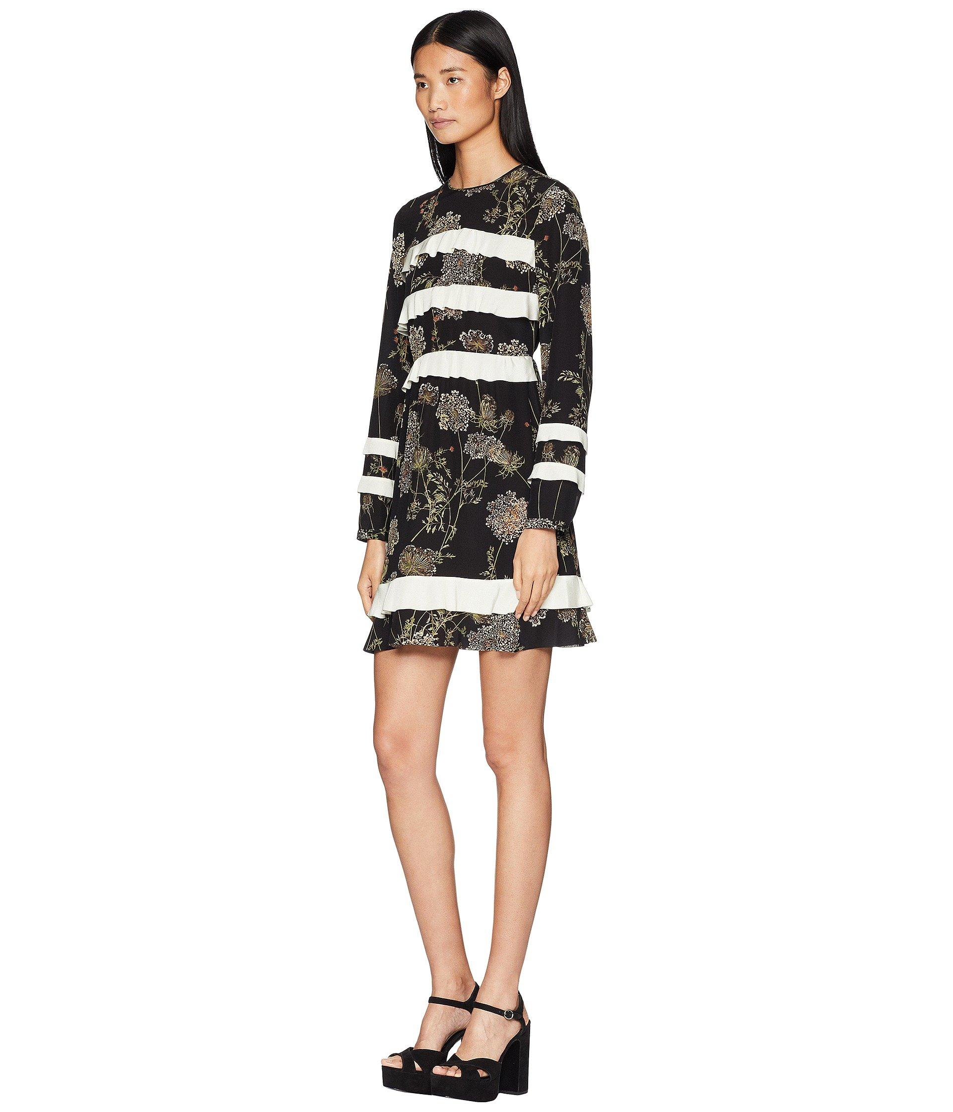 d7e6d13fe5 Lyst - RED Valentino Spontaneous Flowers Print, Silk Crepe De Chine And  Crepe De Chine in Black - Save 33%