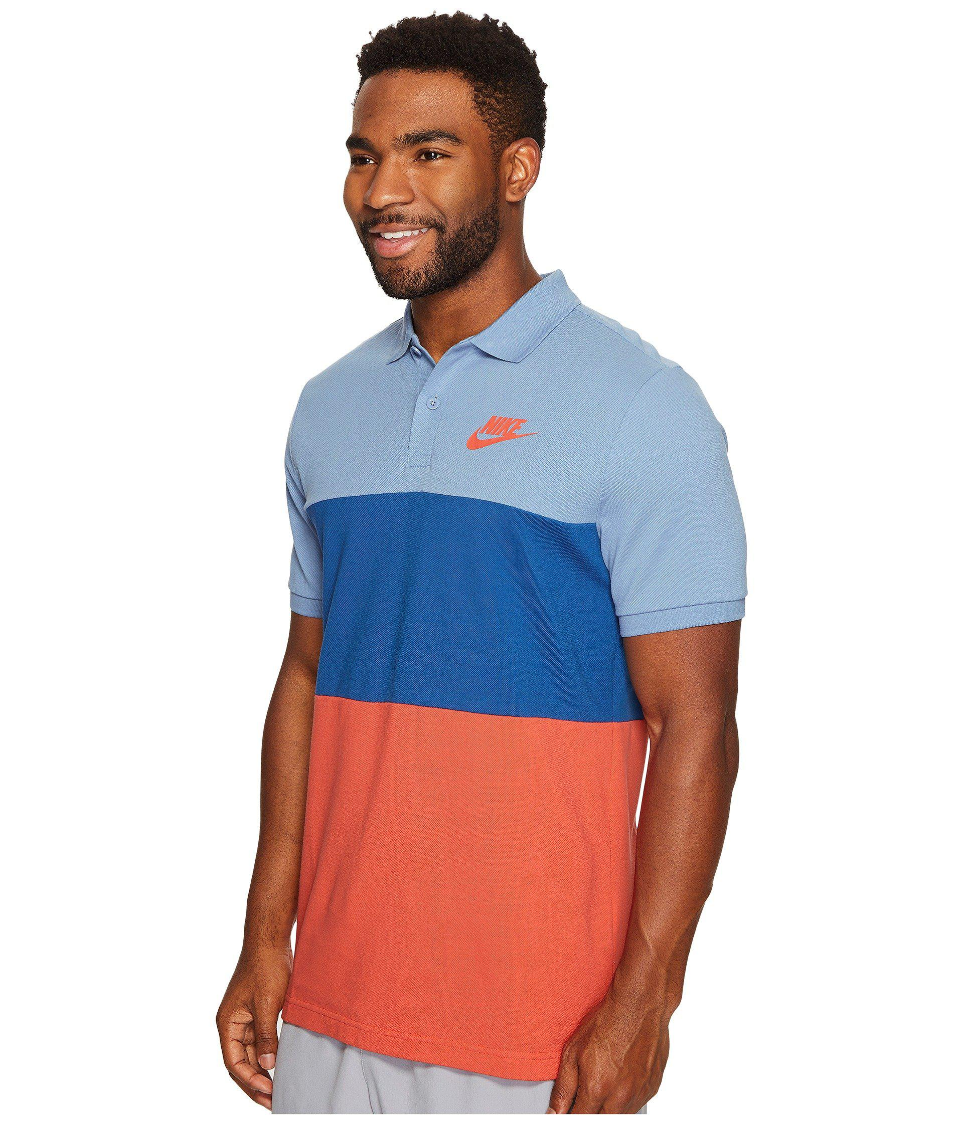 a83a06791b05 Lyst - Nike Matchup Color Block Polo in Blue for Men