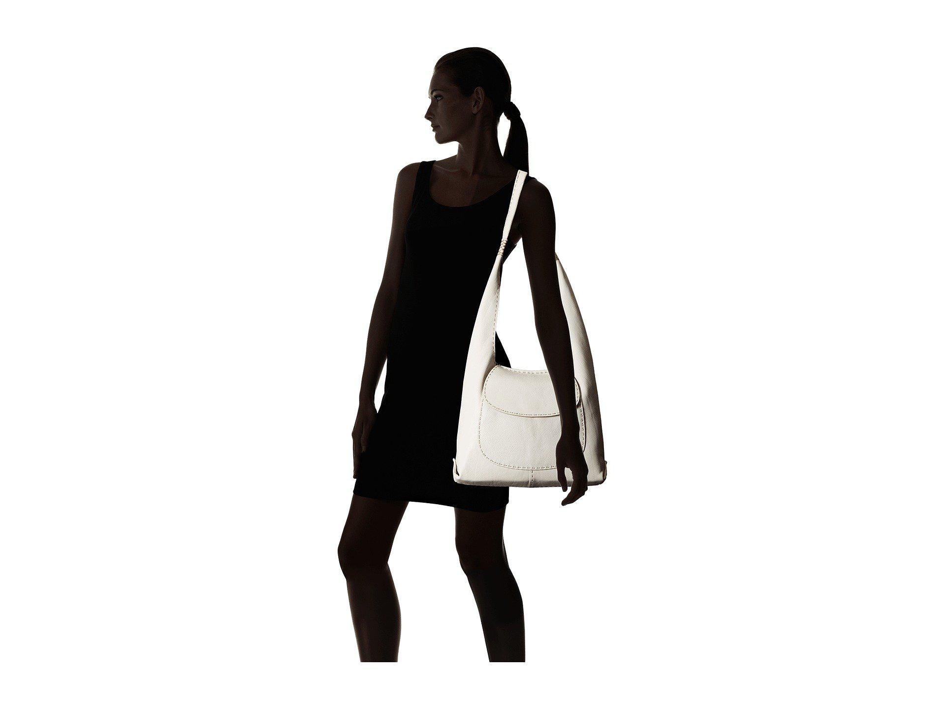 2def9024d8 Lyst - Frye Naomi Pickstitch Hobo in White