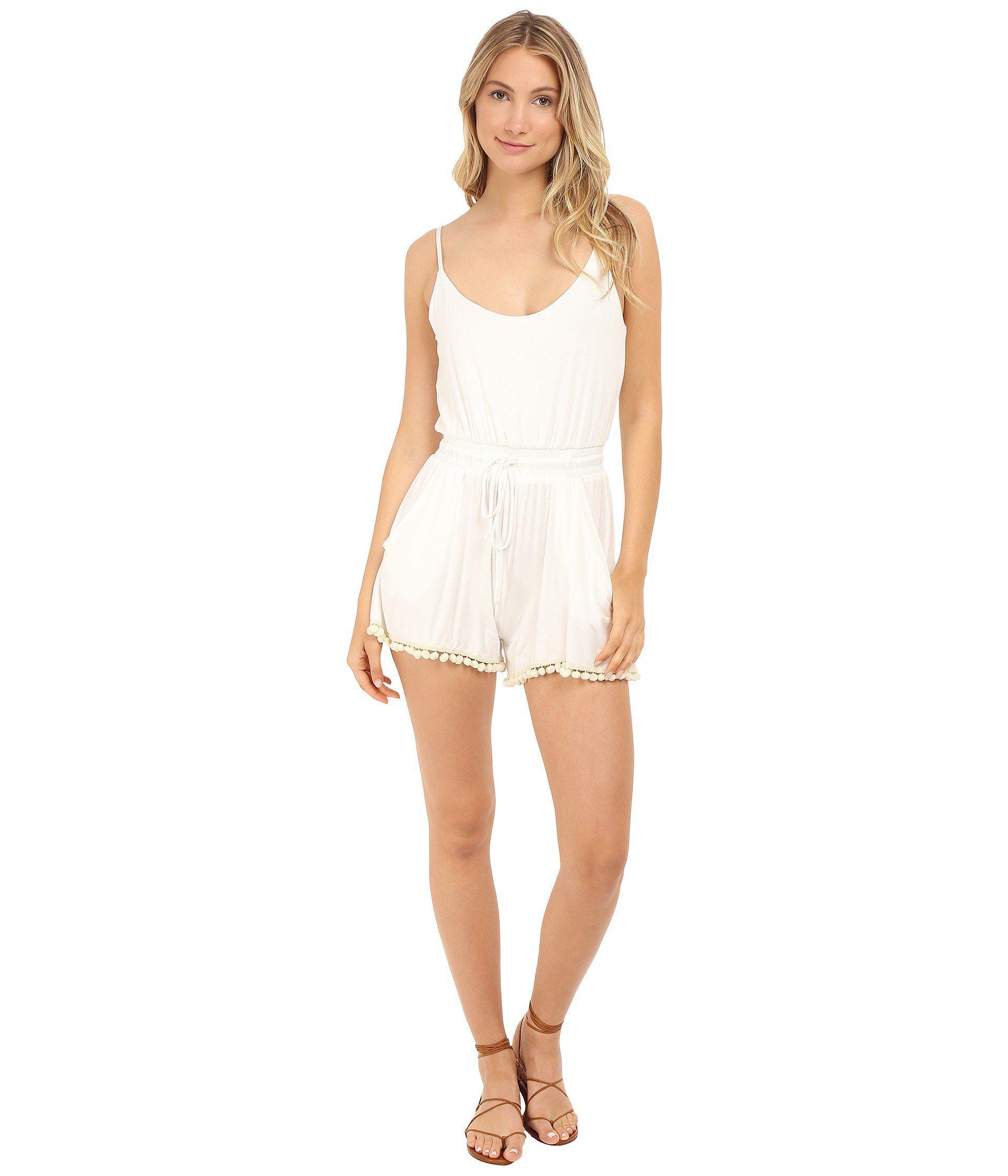 9a9fac4f0434 Lyst - Lucy Love Riley Romper in White