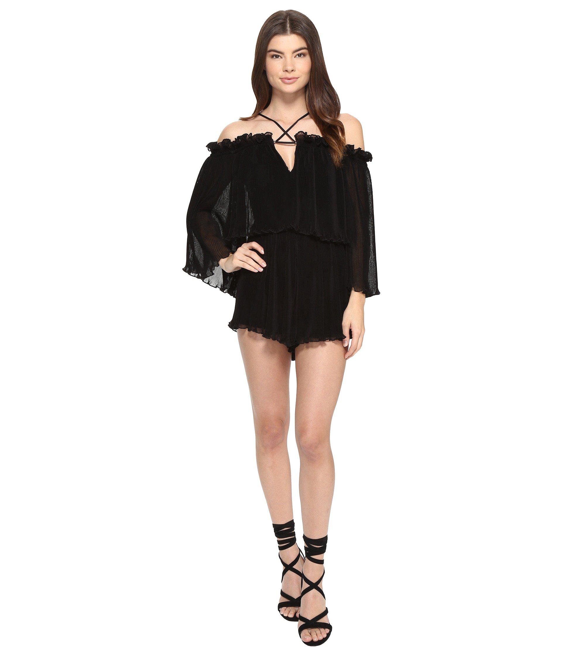 e261602ff3b Lyst - Alice McCALL Locomotion Playsuit in Black