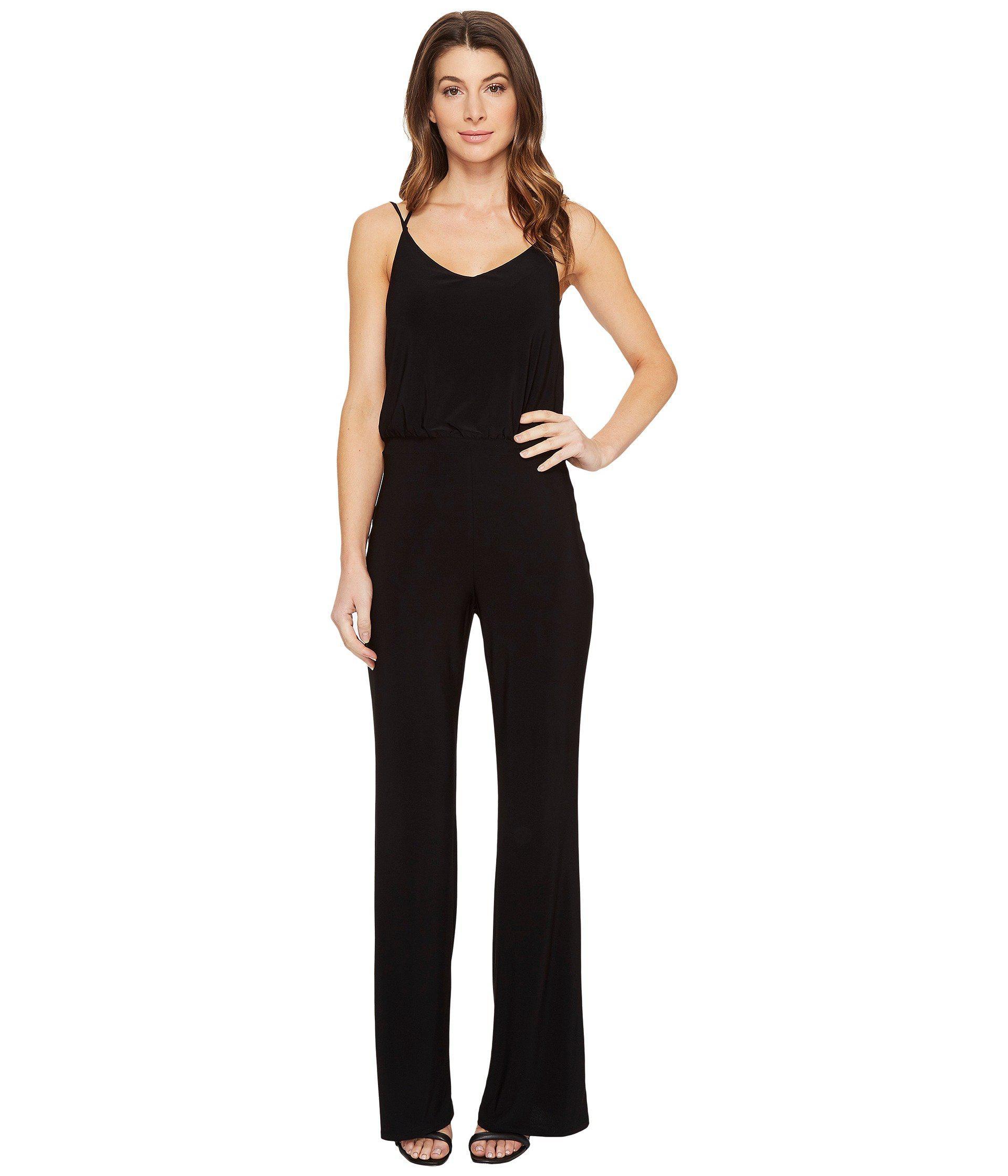 7a2dbaef490b1 Lyst - Laundry by Shelli Segal Cross-back Jumpsuit in Black