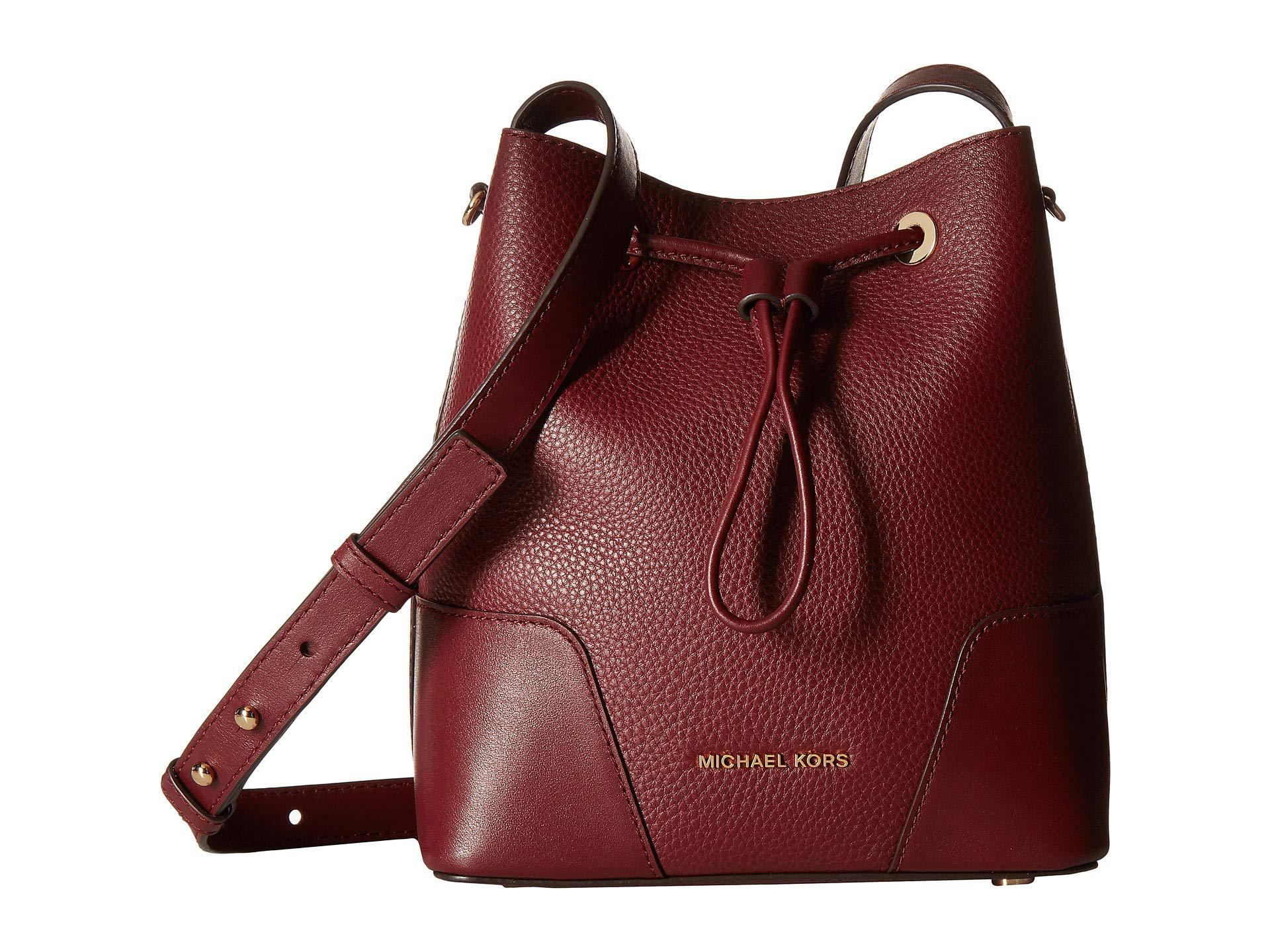 4cdf8760a MICHAEL Michael Kors Cary Small Bucket Bag in Red - Lyst