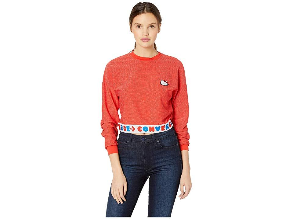 4ceb3cc3 Converse X Hello Kitty Red Tape Long Sleeve T-shirt in Red - Save 43 ...