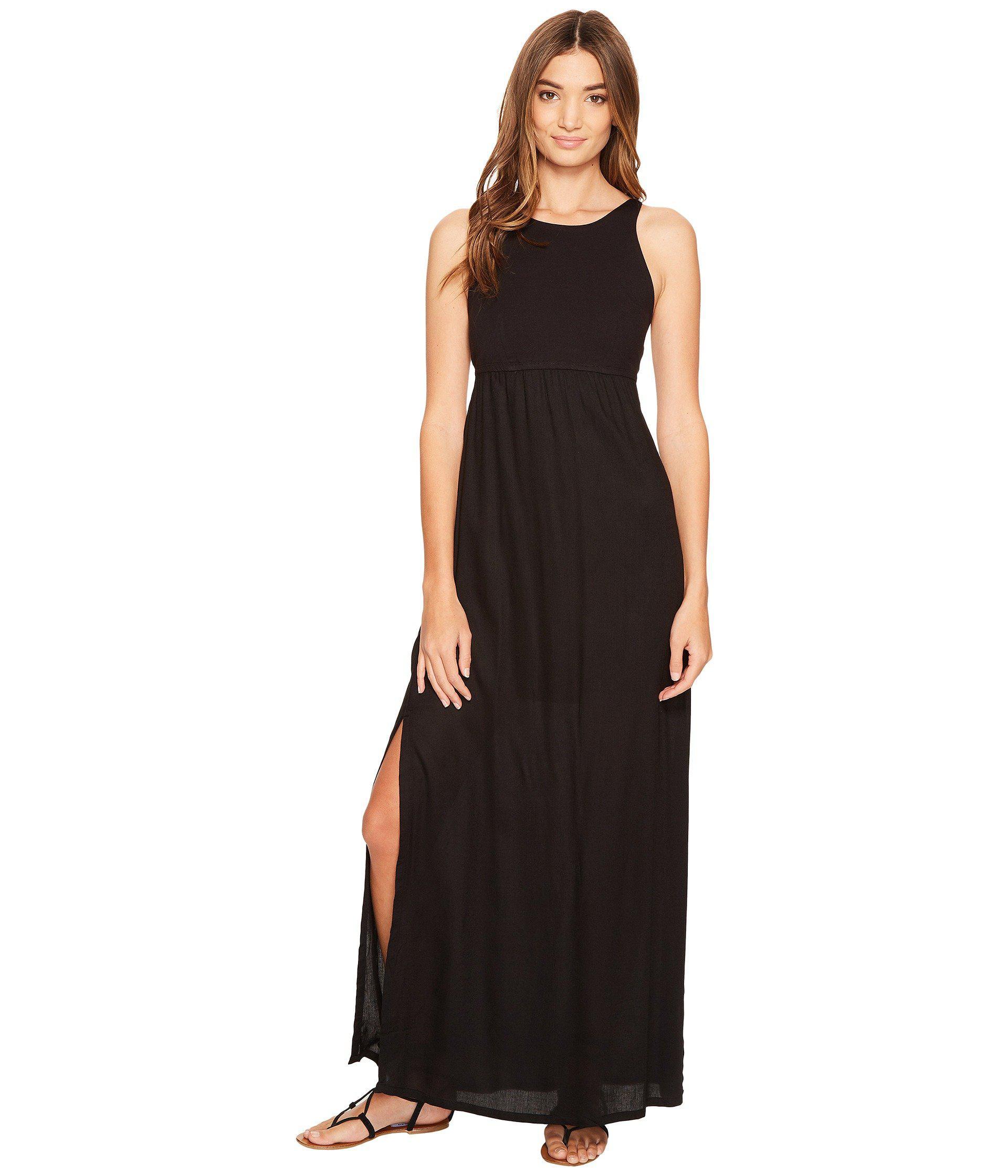 f904e89d2f1 Lyst - RVCA Hazel Maxi Dress in Black