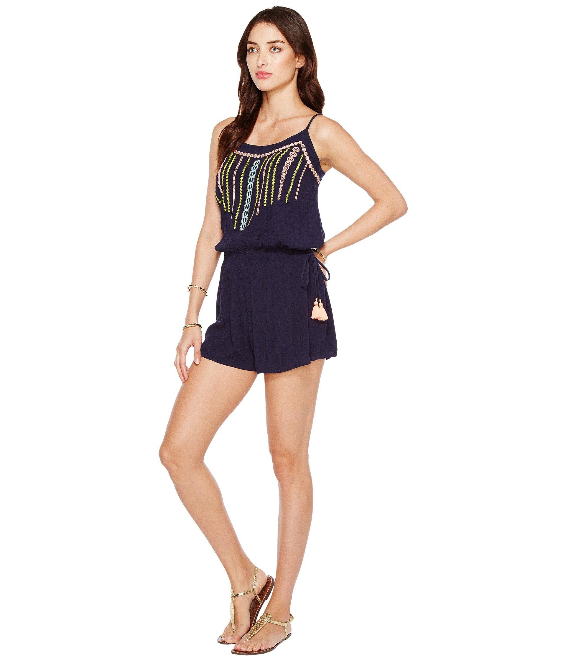 2b6689e8d46 Lyst - Lilly Pulitzer Beeler Romper in Blue - Save 50.0%