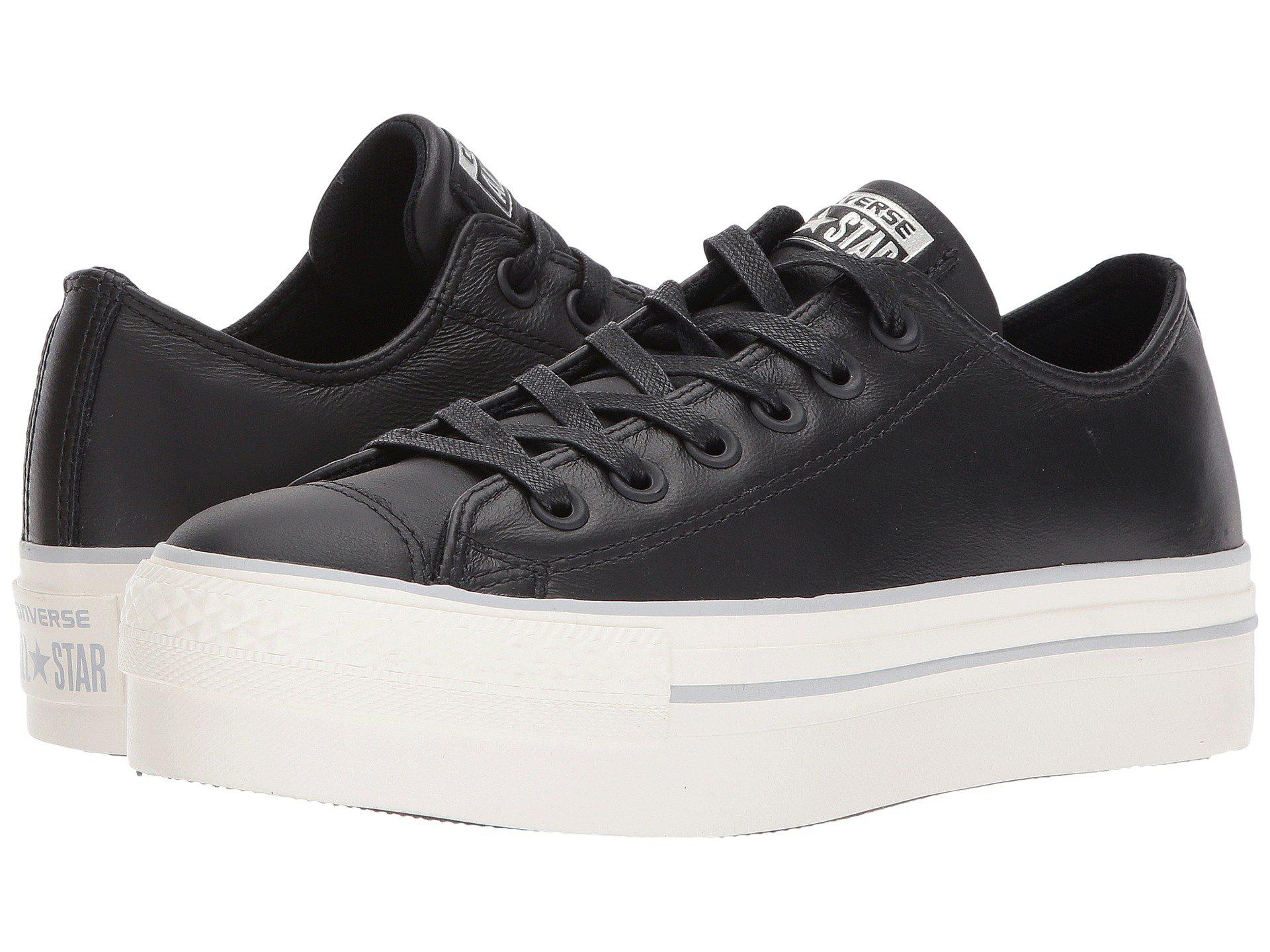 Lyst Leather Ox Converse Chuck All Star® Platform In Black