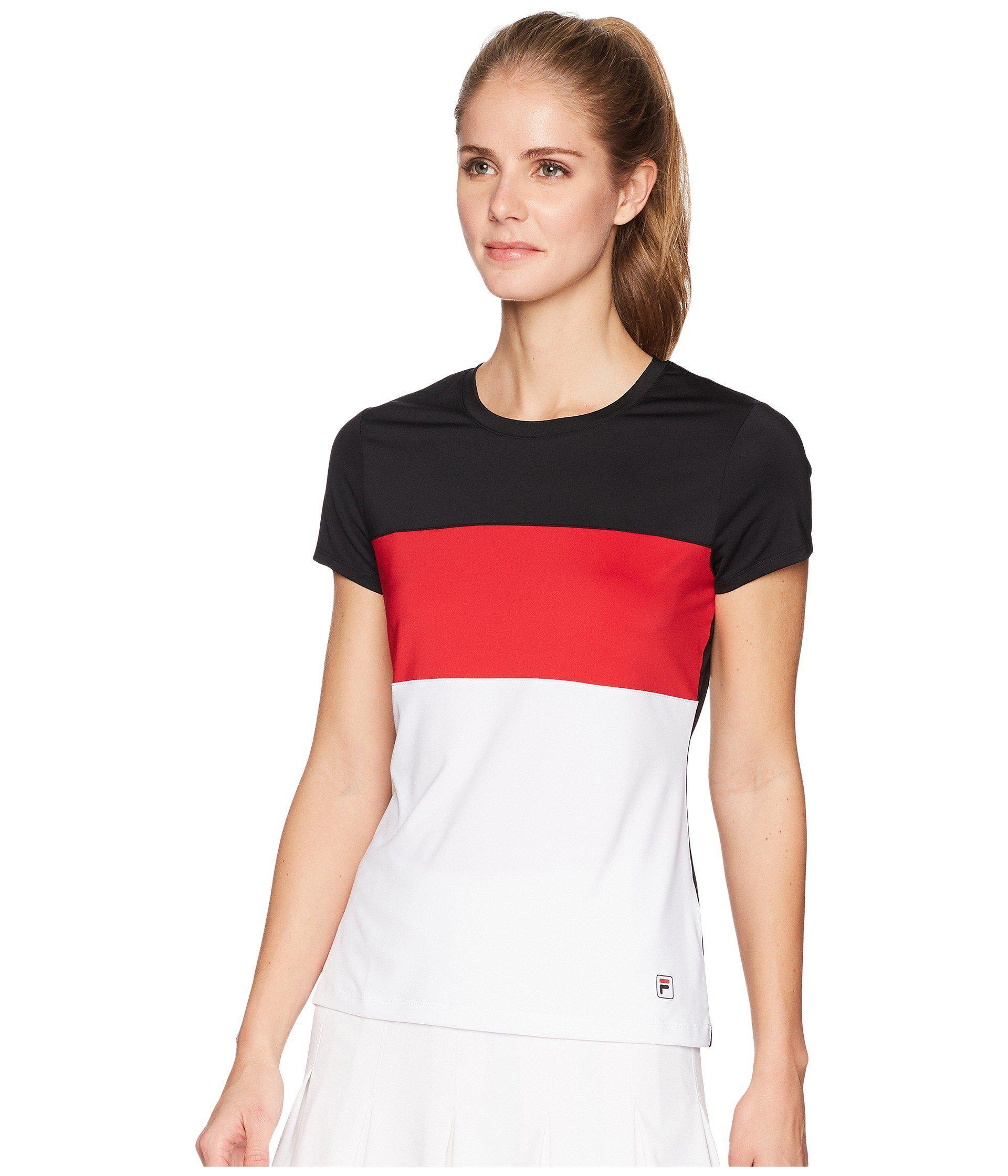 Lyst - Fila Heritage Tennis Cap Sleeve Top in Black - Save 21% 76f3e5032522