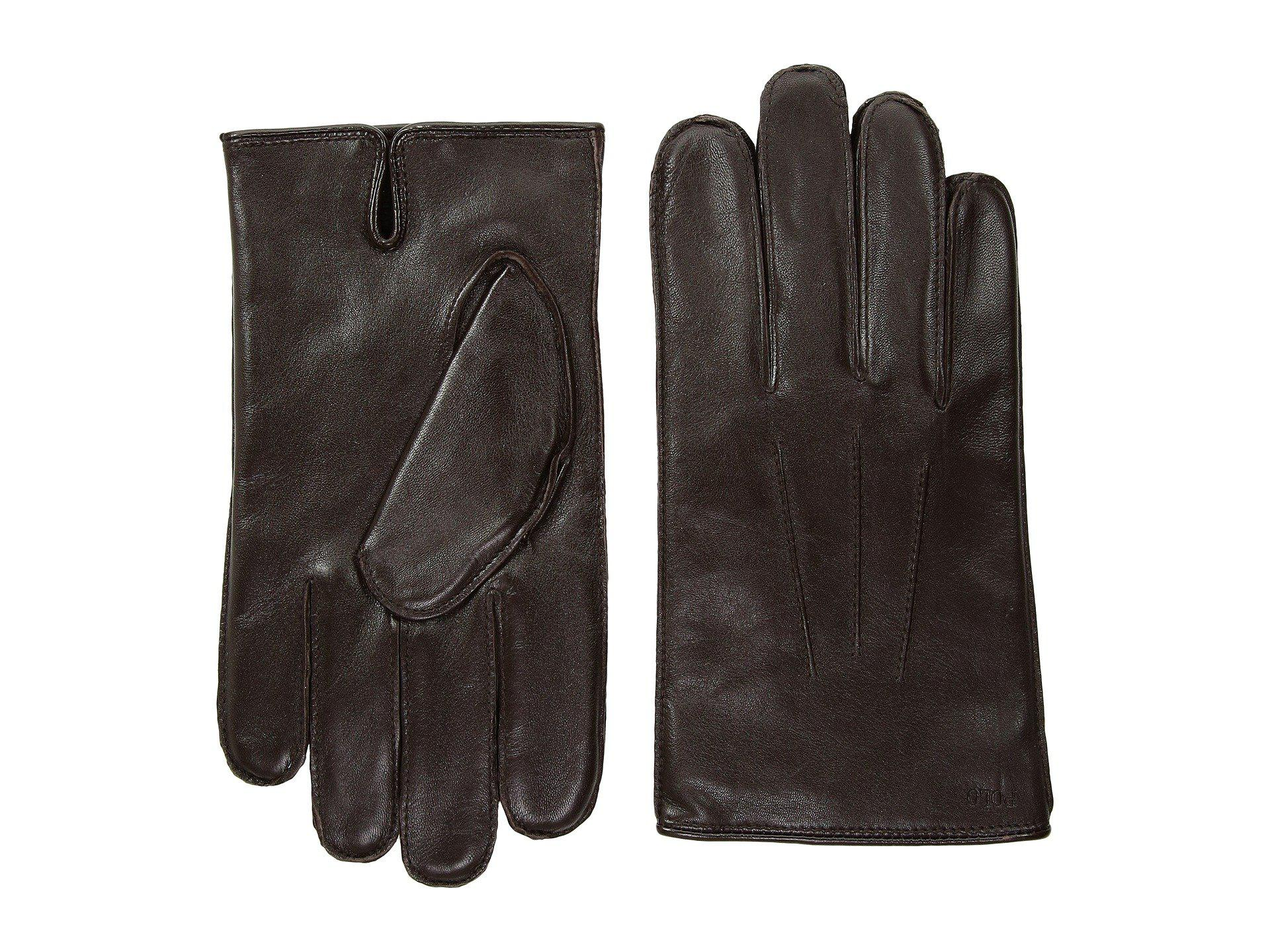 Lyst - Polo Ralph Lauren Everyday Nappa Gloves in Brown for Men ... aa7e4a26cb07f