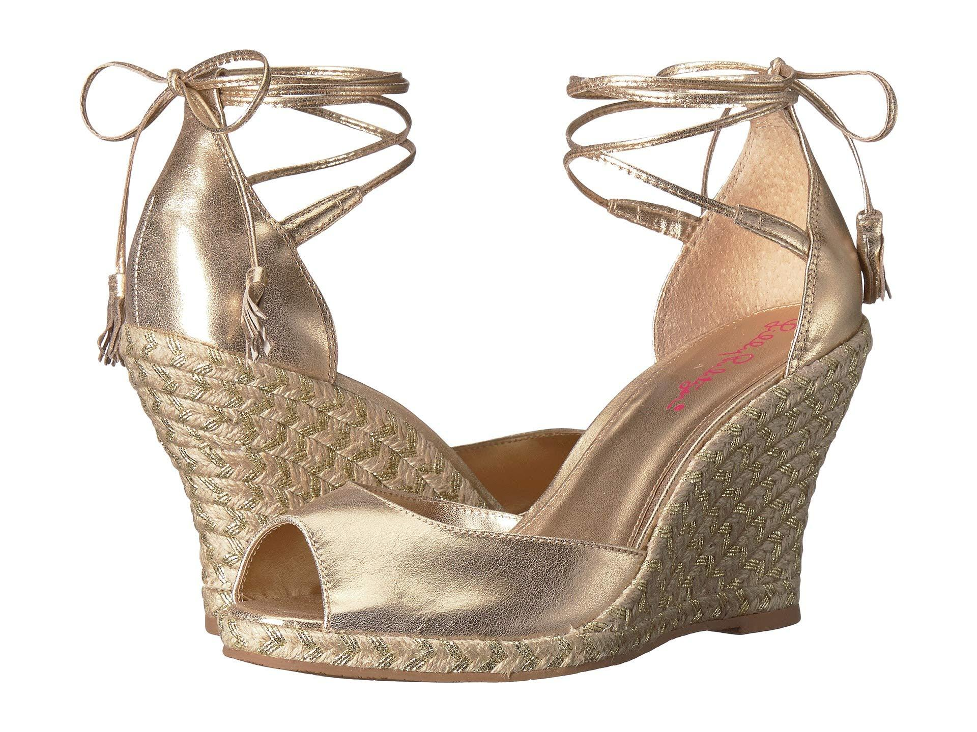 2c3343d3f4d Lyst - Lilly Pulitzer Aleena Wedge in Metallic - Save 34%