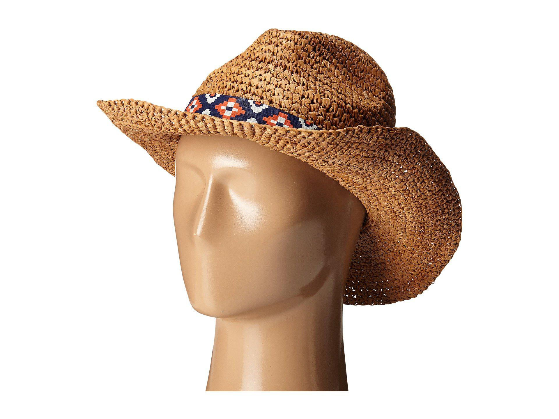 12edc3c2d2bd0 Lyst - Roxy Cantina Straw Fedora Hat in Natural