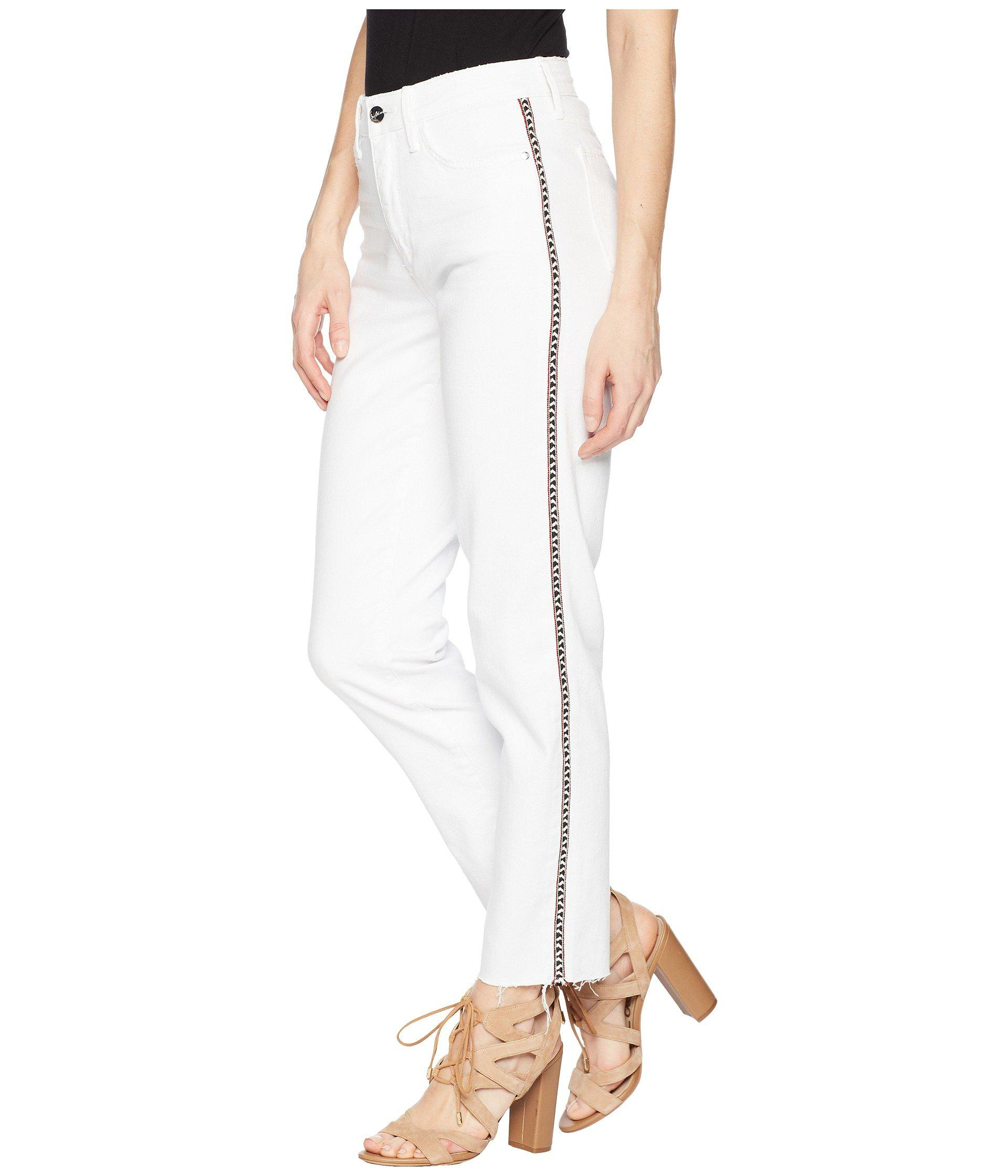 685c89067 Lyst - Sam Edelman The Mary Jane High Rise Straight Crop In Laney in White