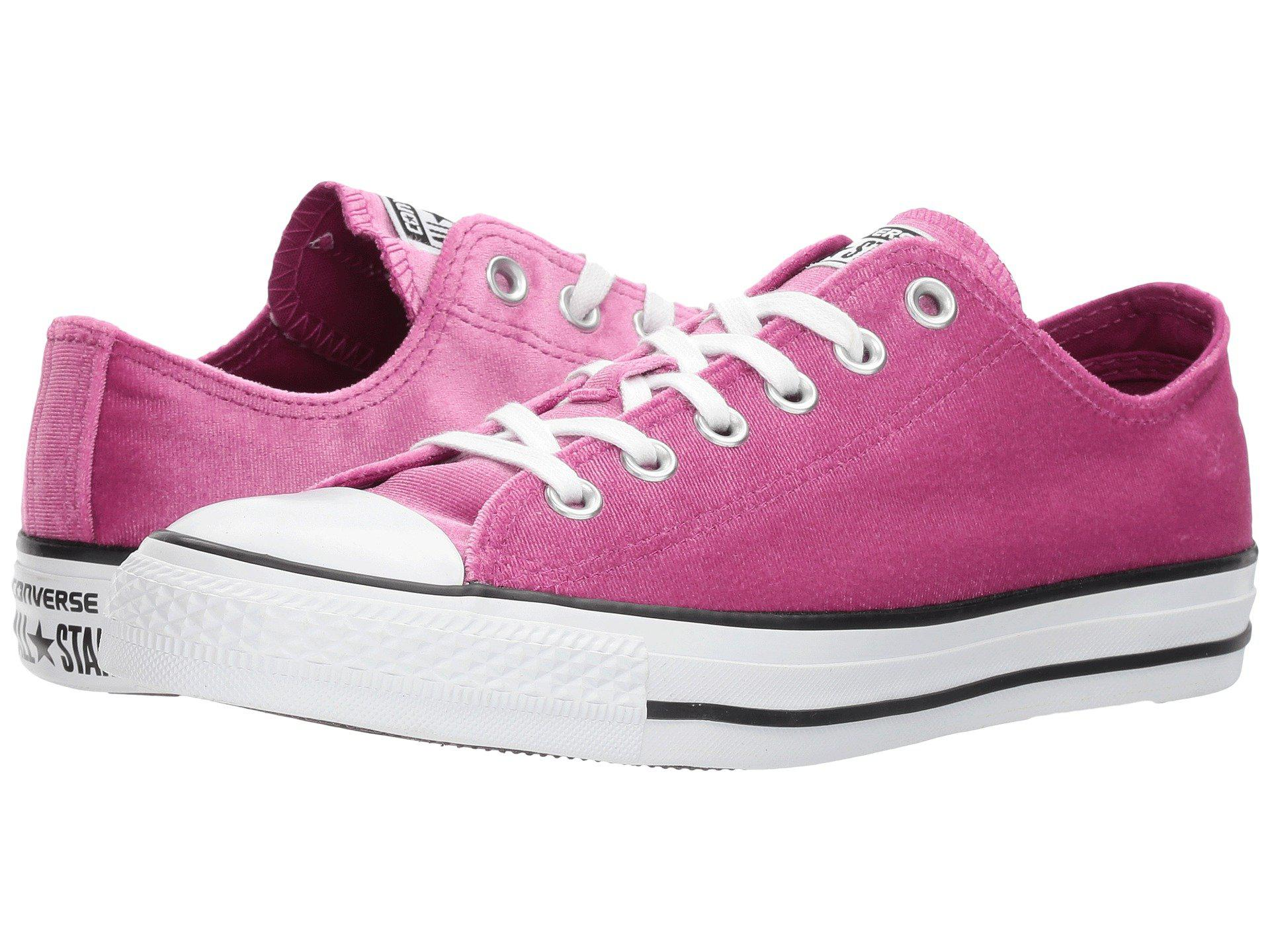 a4c80a04a64b Lyst - Converse Chuck Taylor® All Star® Velvet Ox in Pink