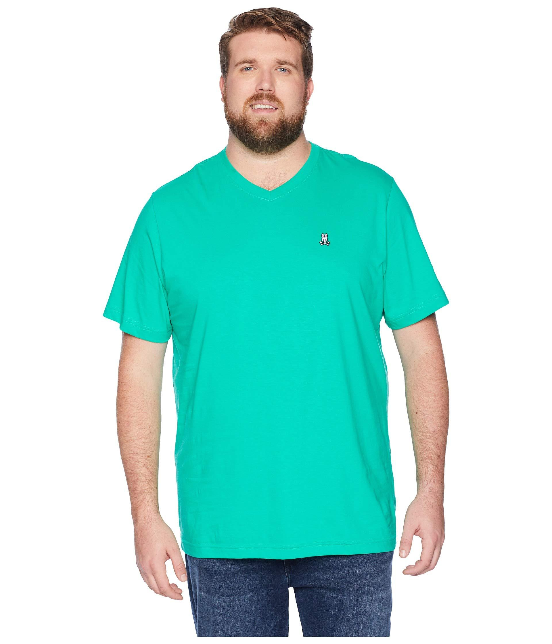 71b14151166 Lyst - Psycho Bunny Big And Tall V-neck T-shirt in Green for Men ...