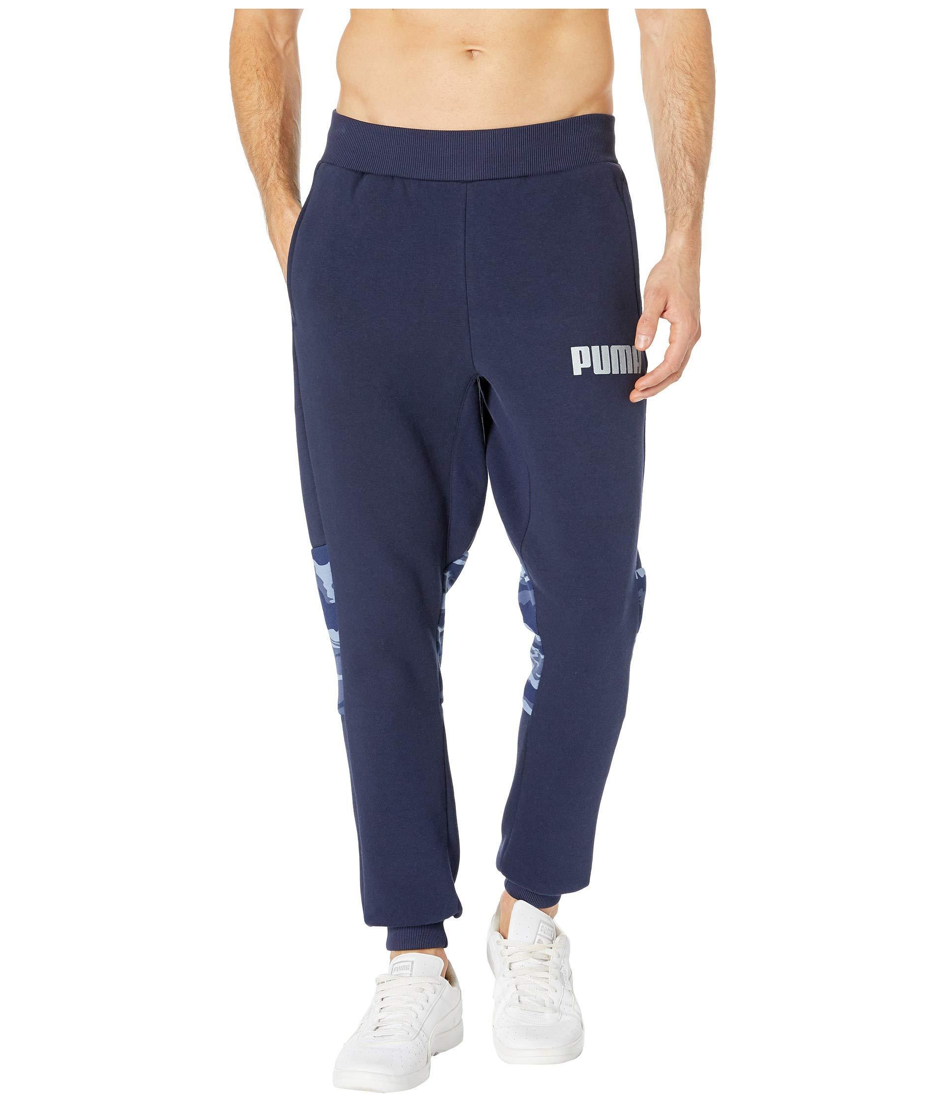 497b66096cad Lyst - PUMA Camo Foil Fleece Sweatpants in Blue for Men - Save 6%