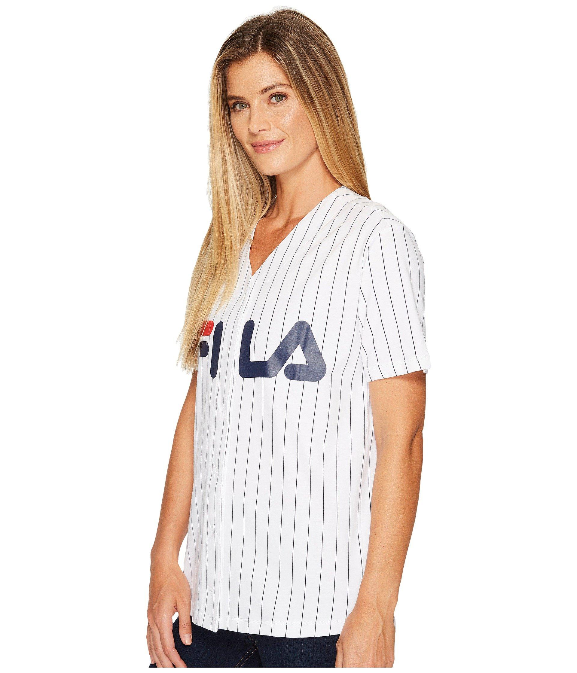 2c0a6cd6d219 Fila Lacey Baseball T-shirt in White - Lyst