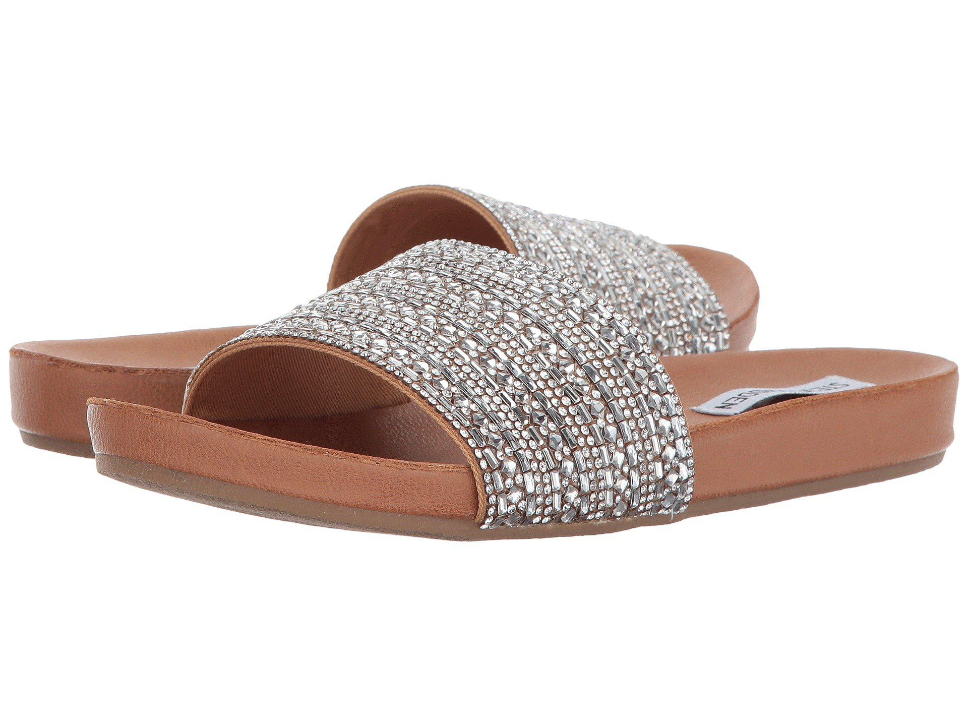 3f7494c39e8 Lyst - Steve Madden Dazzle Slide Sandal in Brown - Save 11%