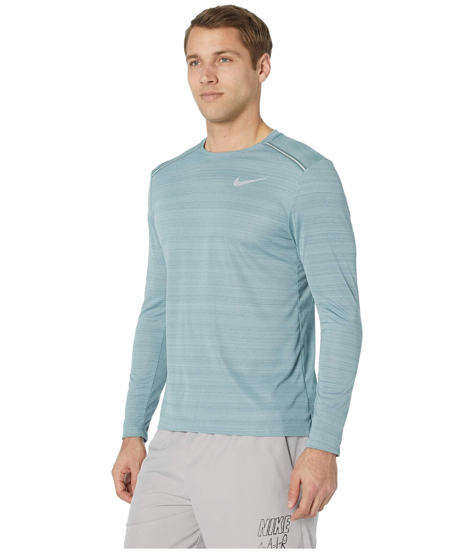 9eeb21a8 Lyst - Nike Dry Miler Top Long Sleeve in Blue for Men - Save 13%