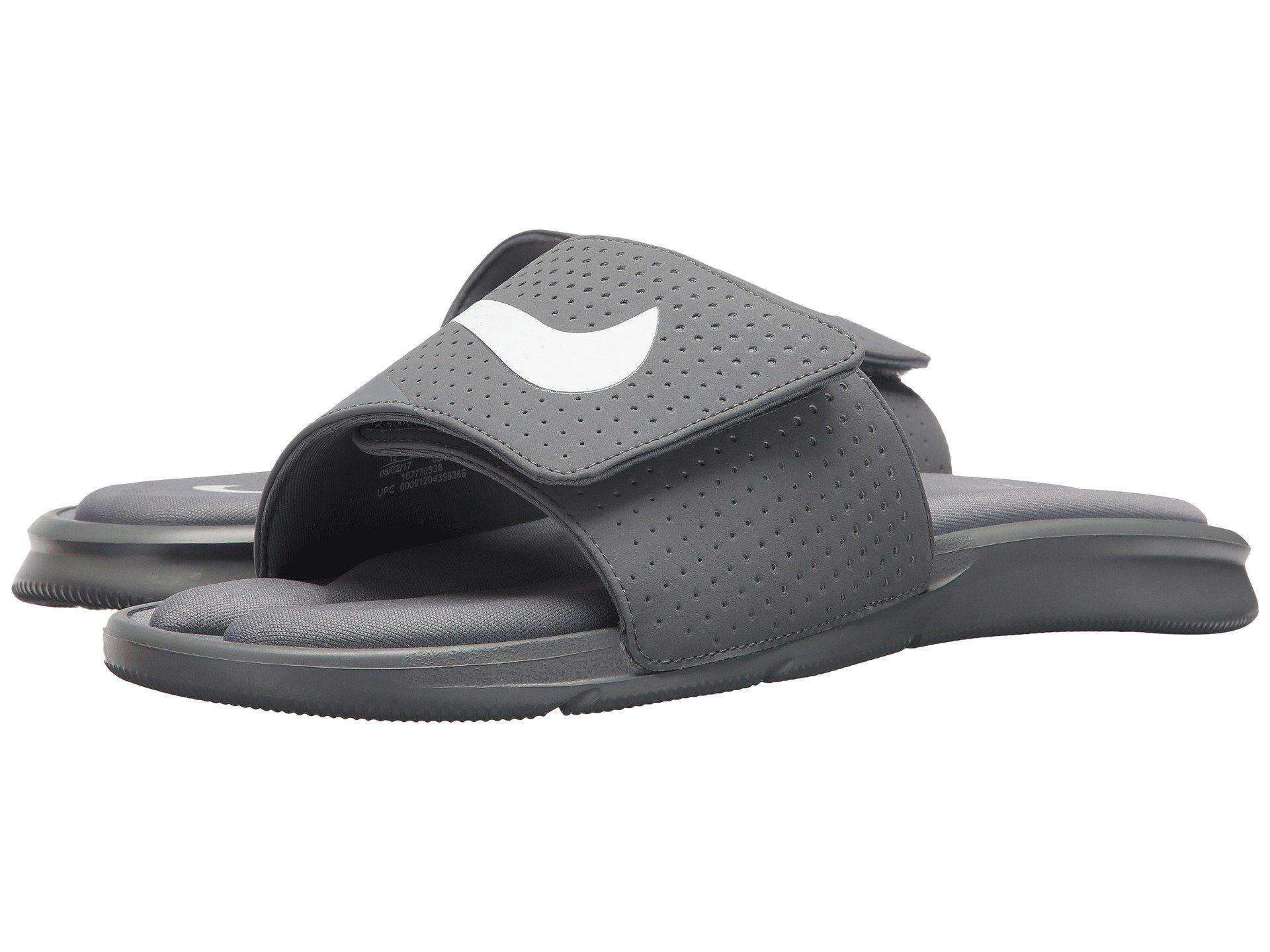 bdfa7b97d Lyst - Nike Ultra Comfort Slide Sandal in Gray for Men - Save 38%