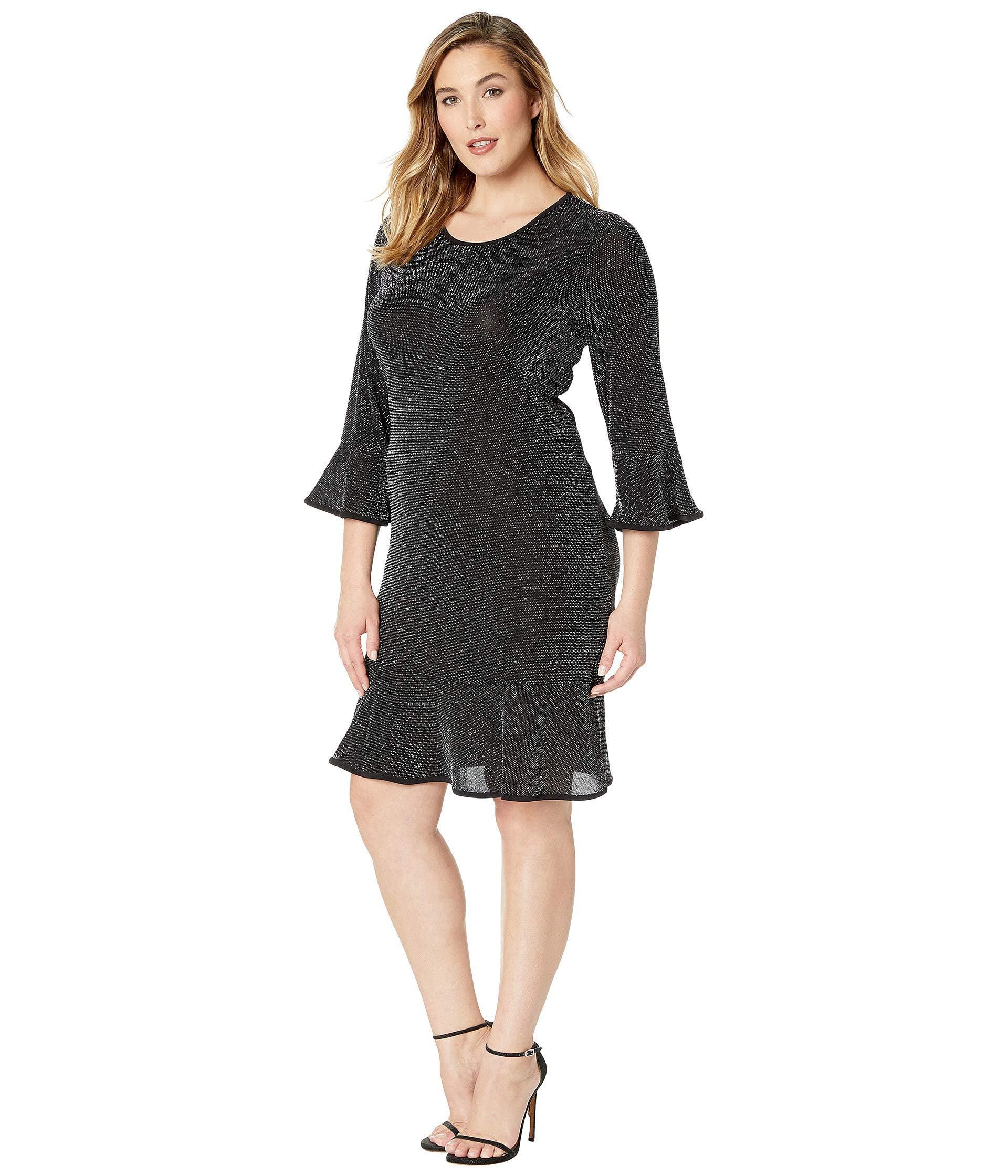 0eb795a498870 Lyst - MICHAEL Michael Kors Plus Size Flounce Sleeve Dress in Black - Save  13%