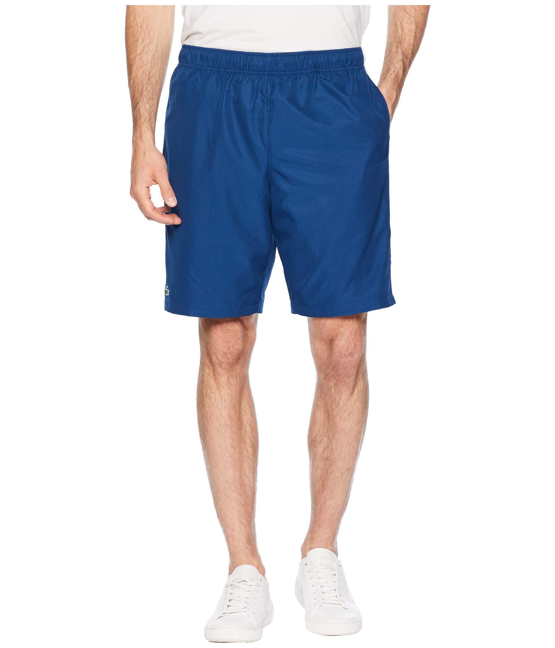 236b6004daff0 Lacoste. Men s Blue Sport Tech Capsule Short W  Contrast Color Yoke At Side