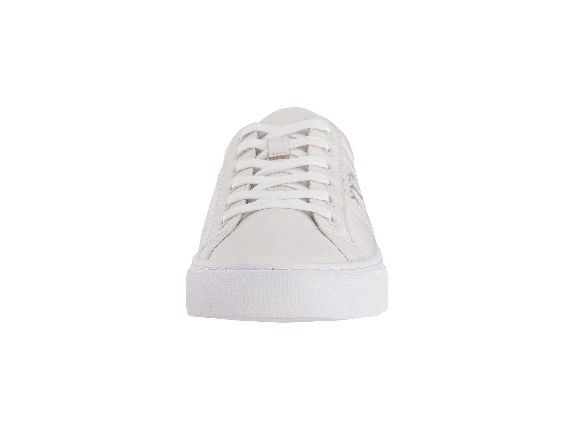 f8fdcb79723852 Lyst - Tory Burch Chace Lace-up Sneaker in White