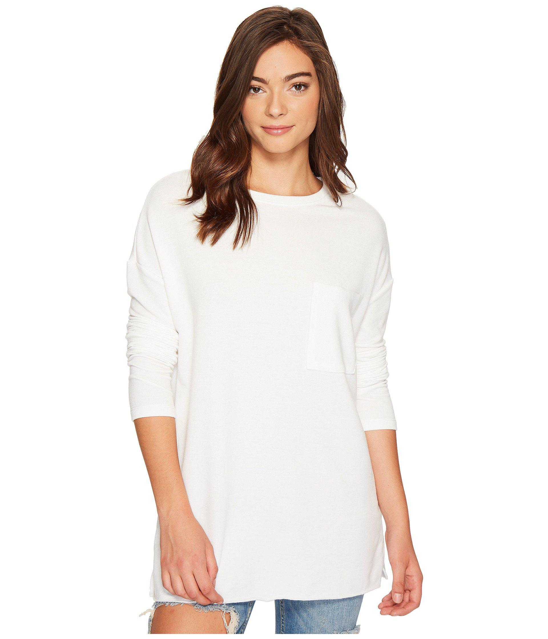 8792762592c93 Lyst - Culture Phit Orla Long Sleeve Top With Pocket in White