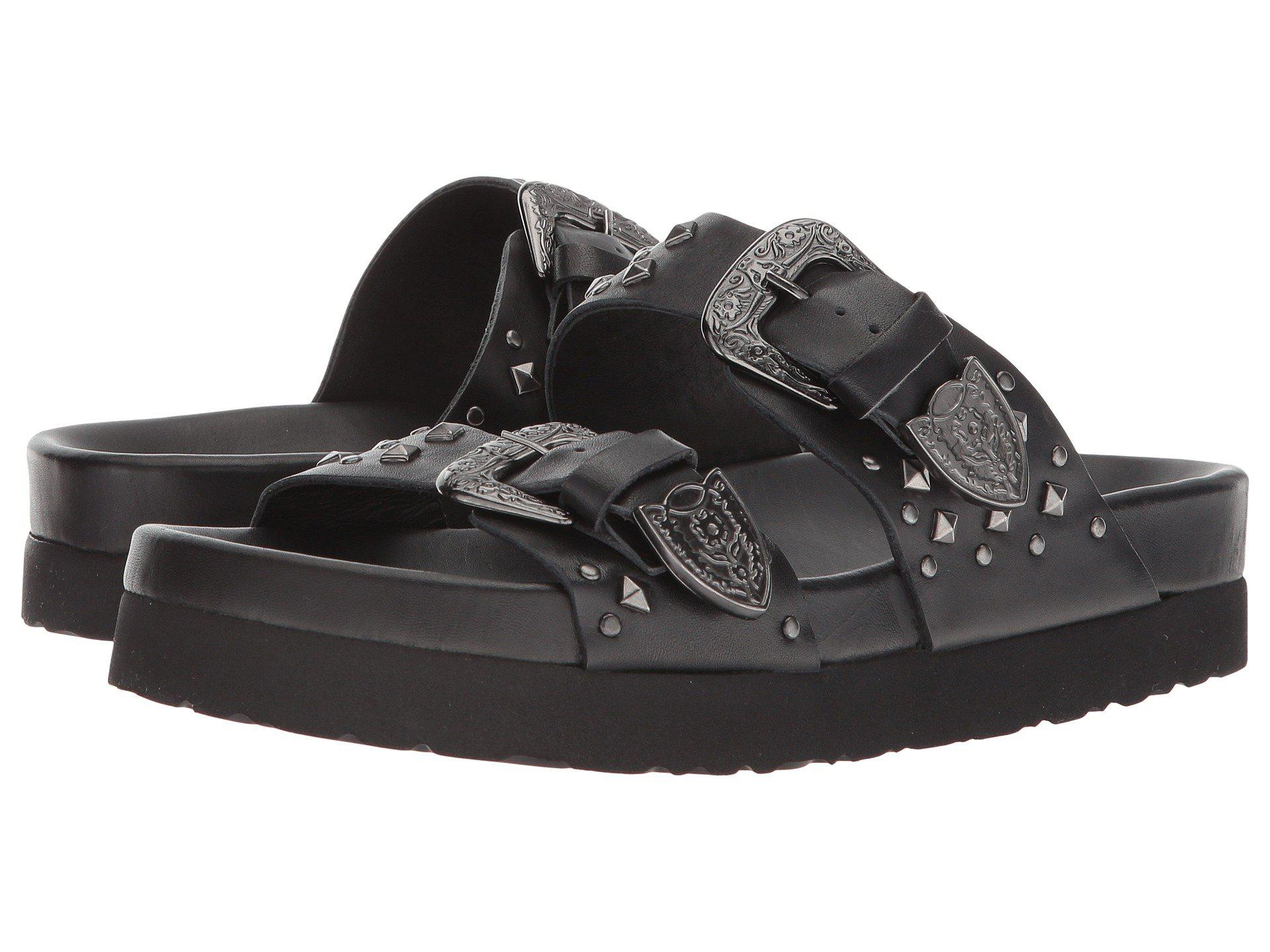 0ad6404cb2c The Kooples Leather Sandal With Studs in Black - Lyst