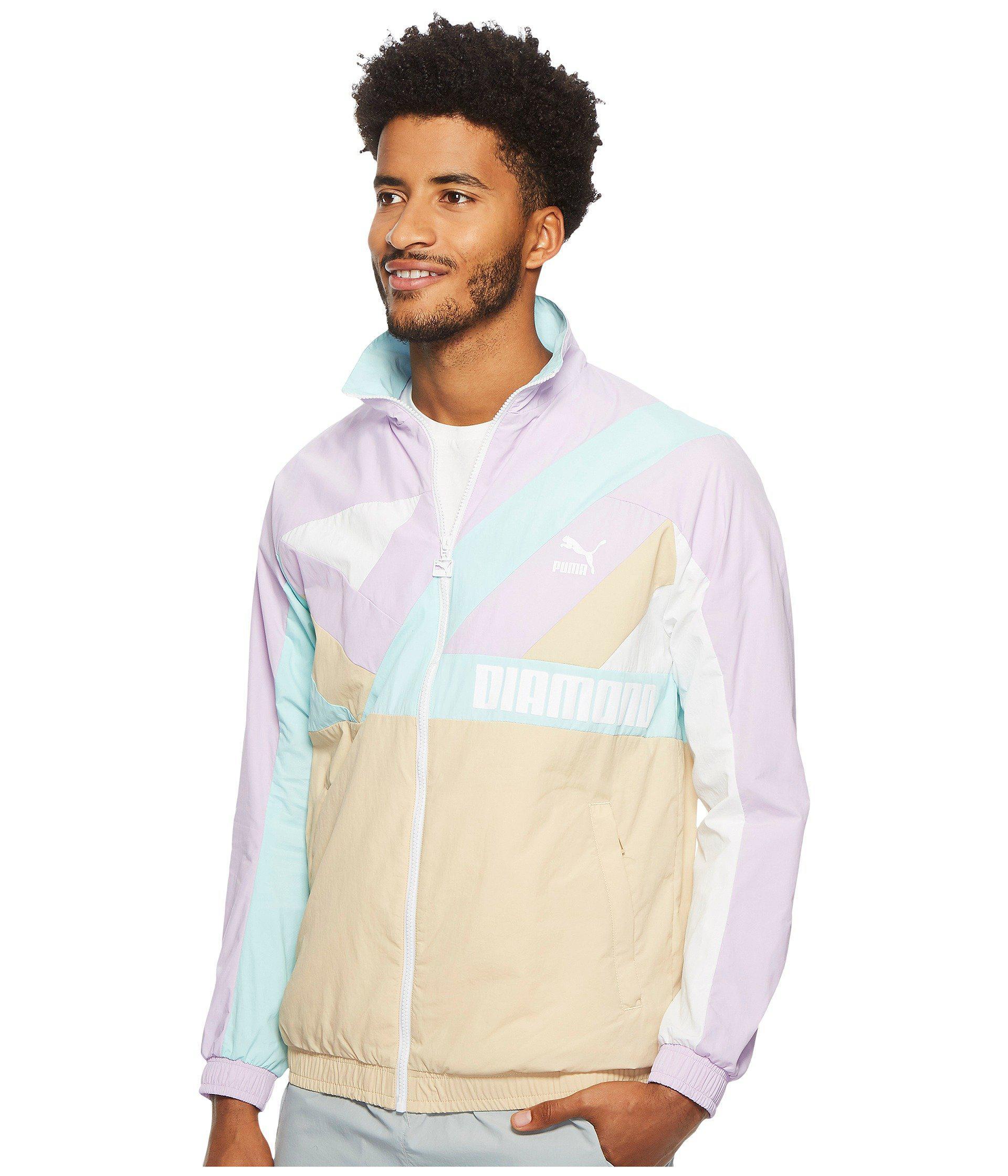 2bd490f8c379 Lyst - PUMA X Diamond Wind Jacket in White for Men - Save 53%
