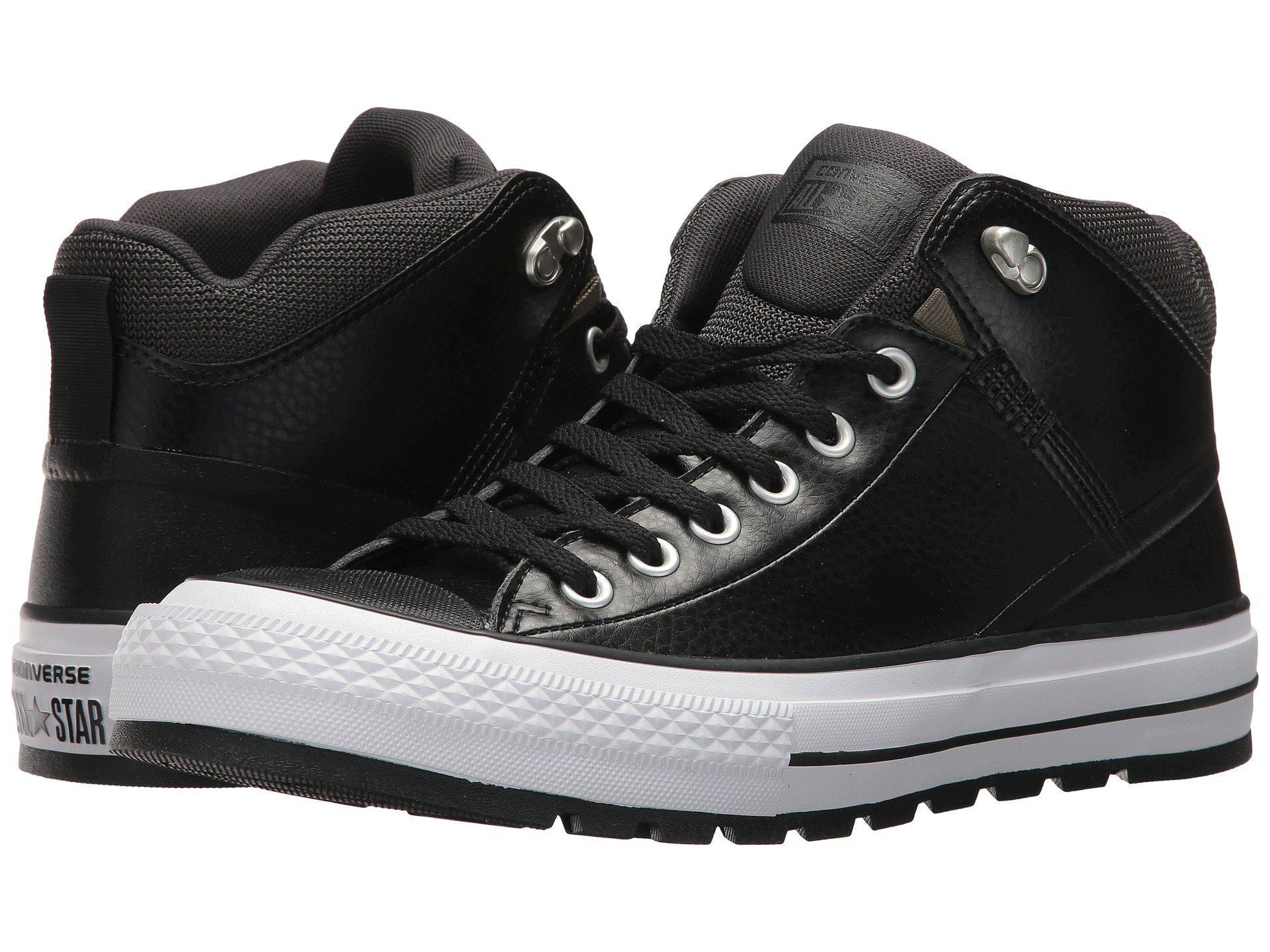 a05e5744386b Lyst - Converse Chuck Taylor® All Star® Street Boot Leather Hi in ...